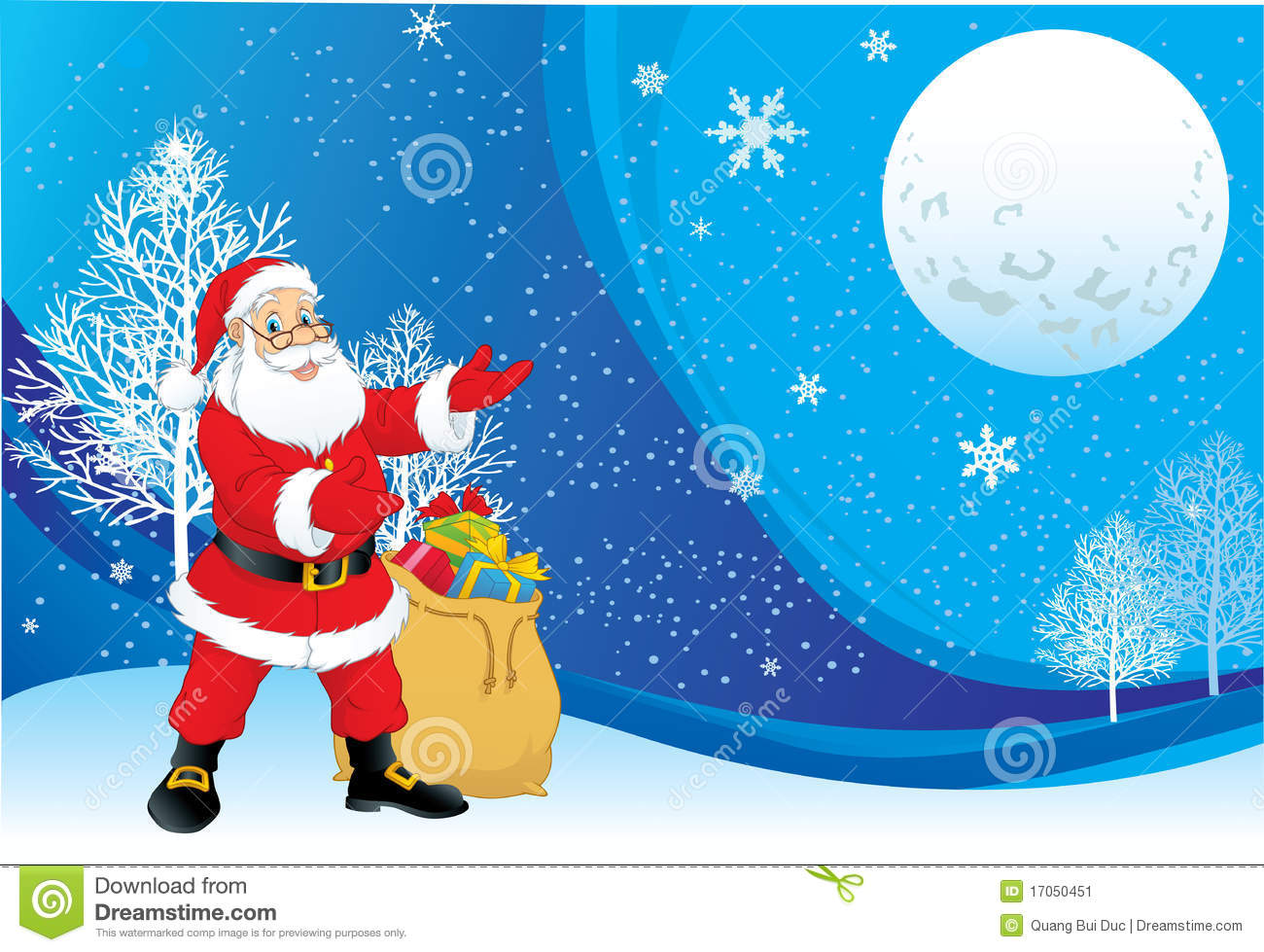 christmas santa claus background stock vector illustration of blue heaven 17050451 dreamstime com