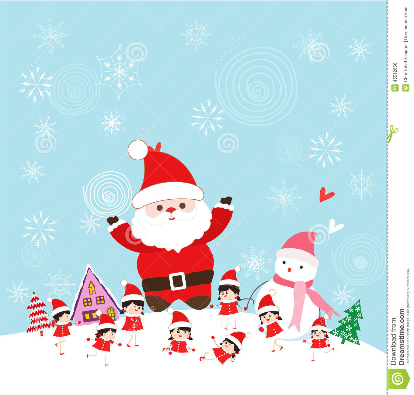 Christmas with santa claus and kids funny stock vector christmas with santa claus and kids funny m4hsunfo Images