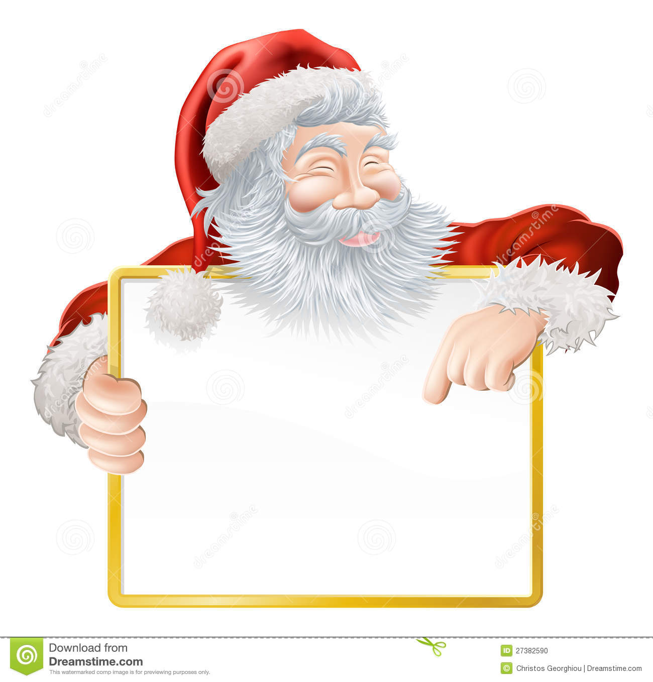 Christmas Santa Claus Sign Stock Vector Illustration Of