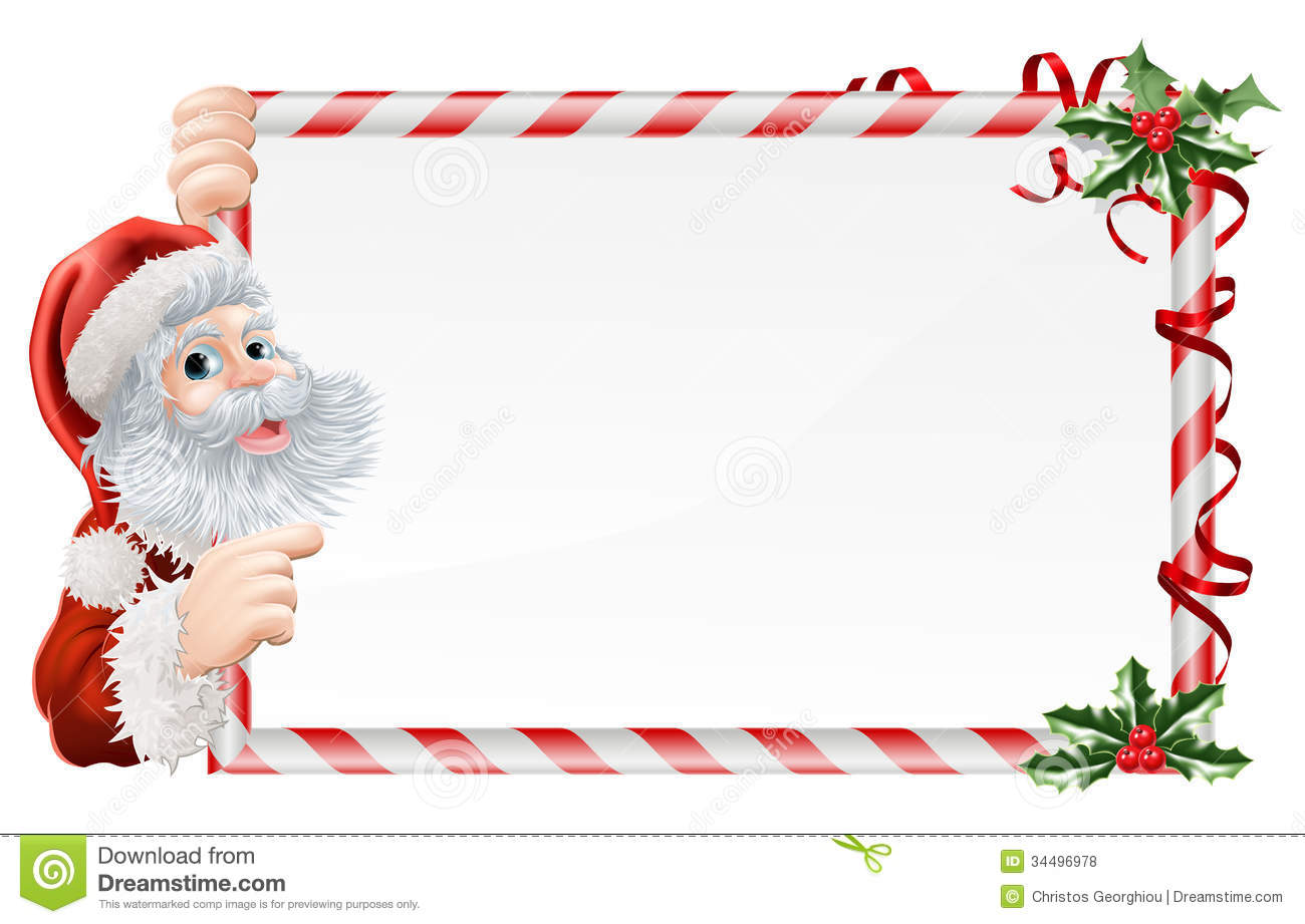 Christmas Santa Claus Sign Royalty Free Stock Photos - Image: 34496978