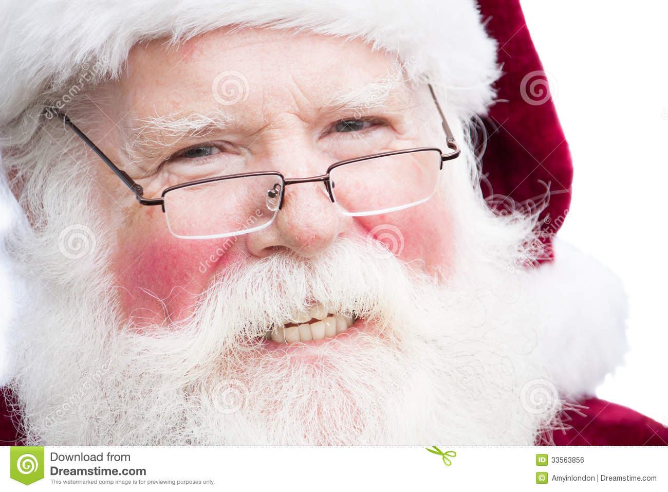 Christmas Santa Claus With Specs Royalty Free Stock Image - Image ...