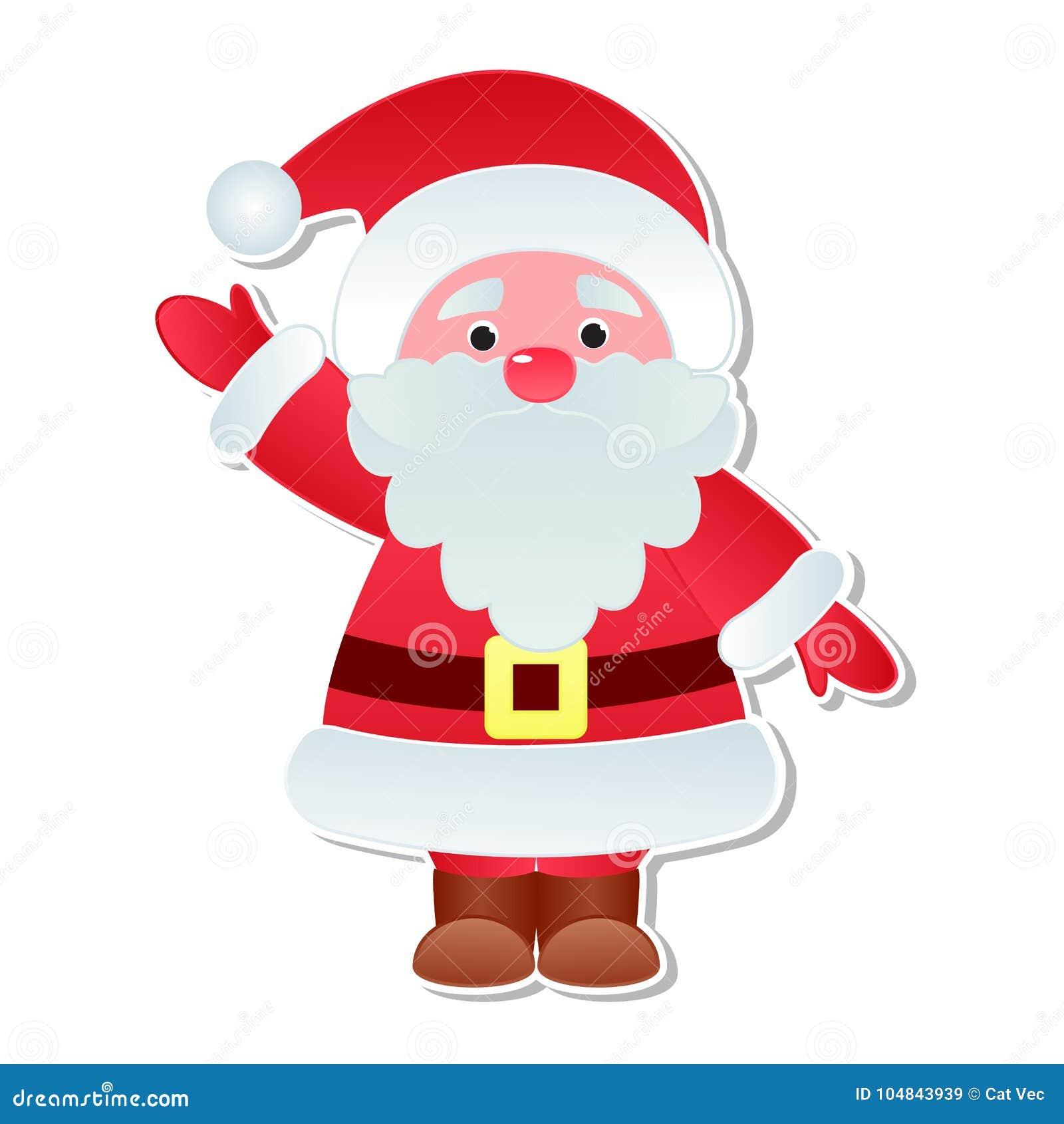 9b34a162bce9b Christmas Santa Claus vector icons character poses Xmas man red traditional  costume cute Santa hat illustration.