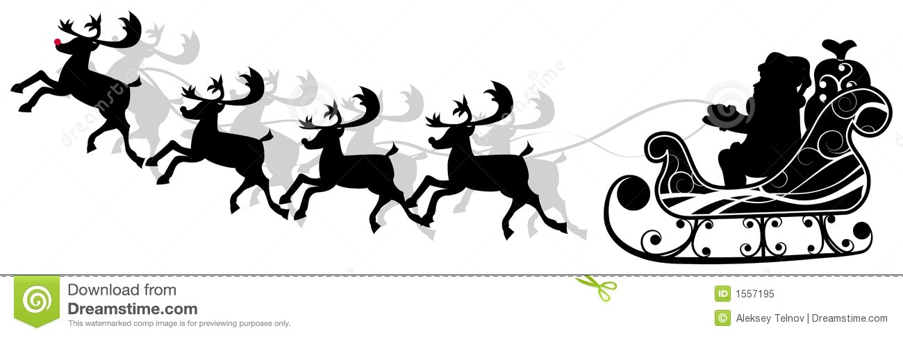 christmas santa and deers vector stock vector illustration of design xmas 1557195 dreamstime com