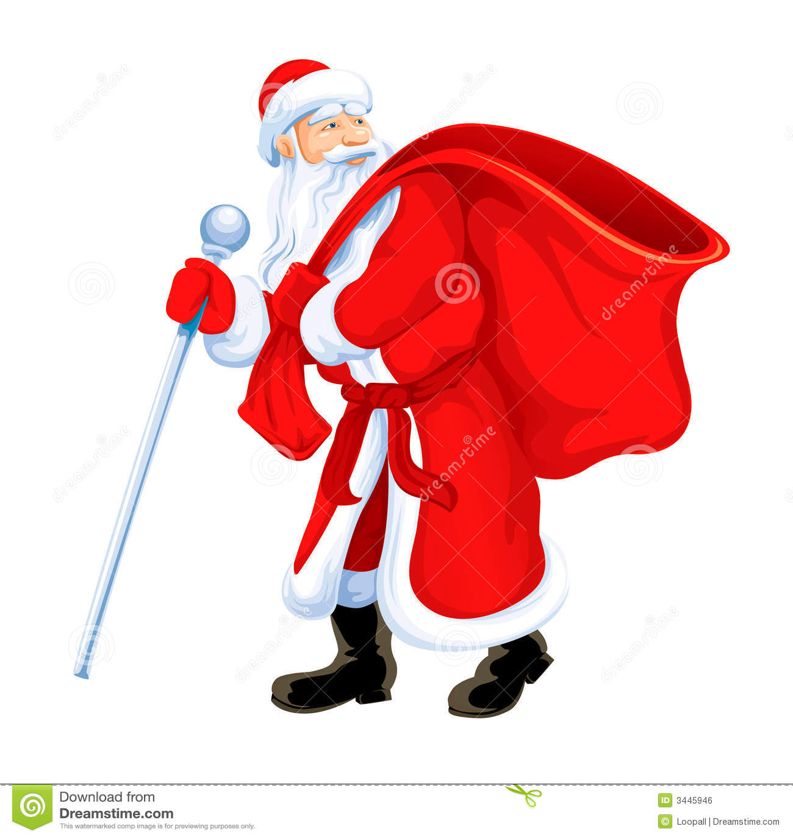 Christmas santa grandfather