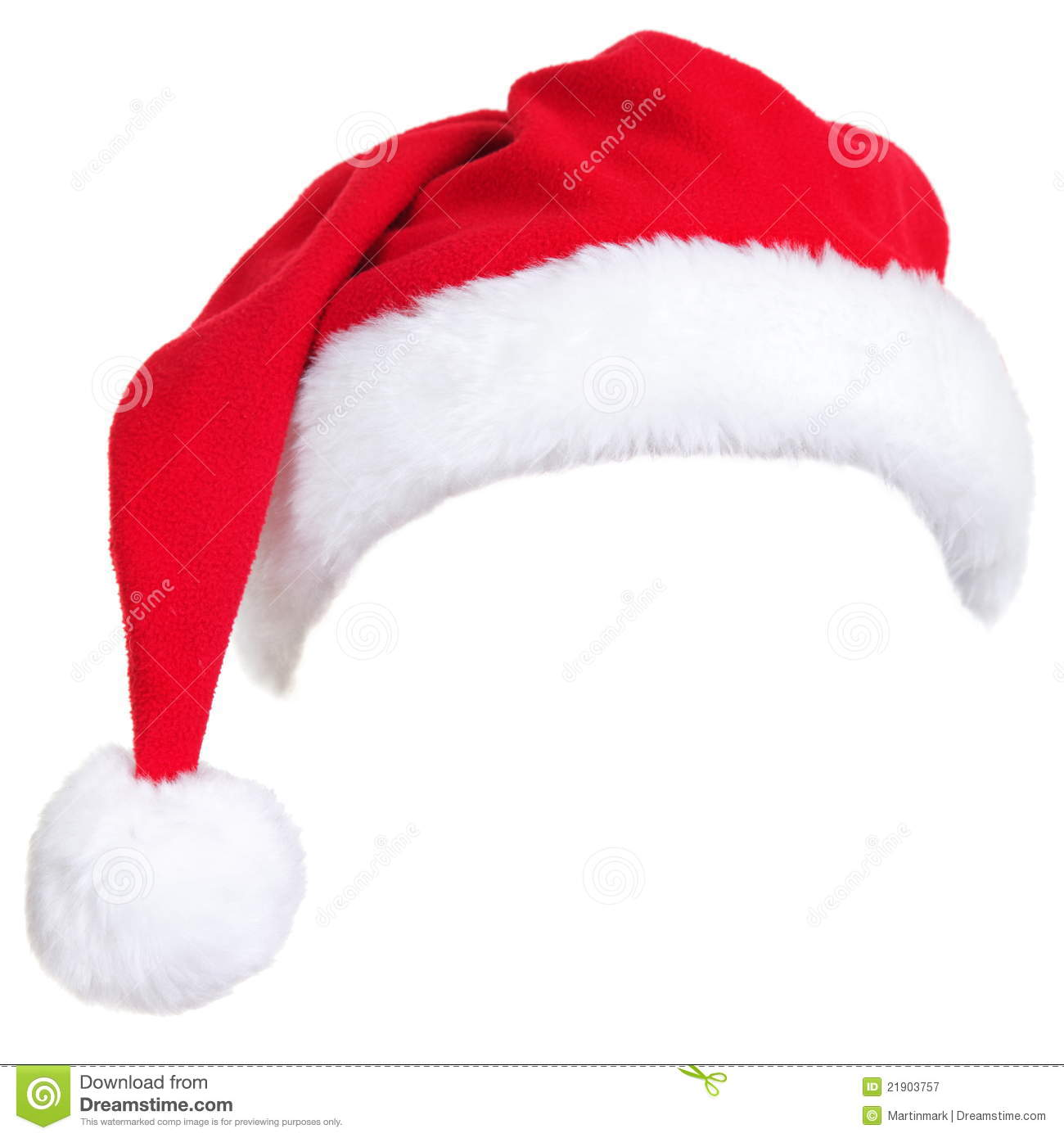 Christmas santa hat stock image of element