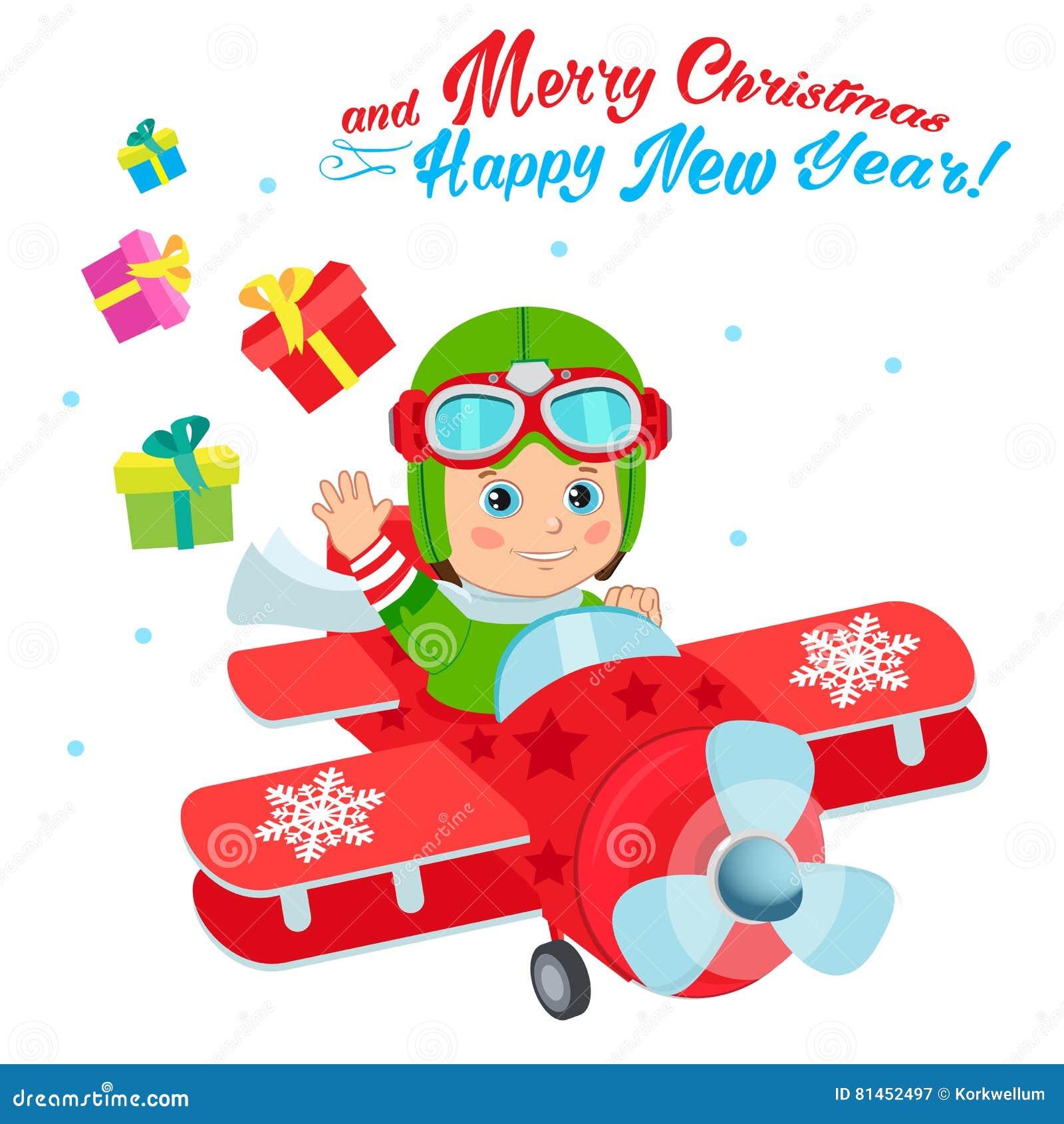 Christmas Santa Helper Boy Cartoon Character. Cute Boy ...