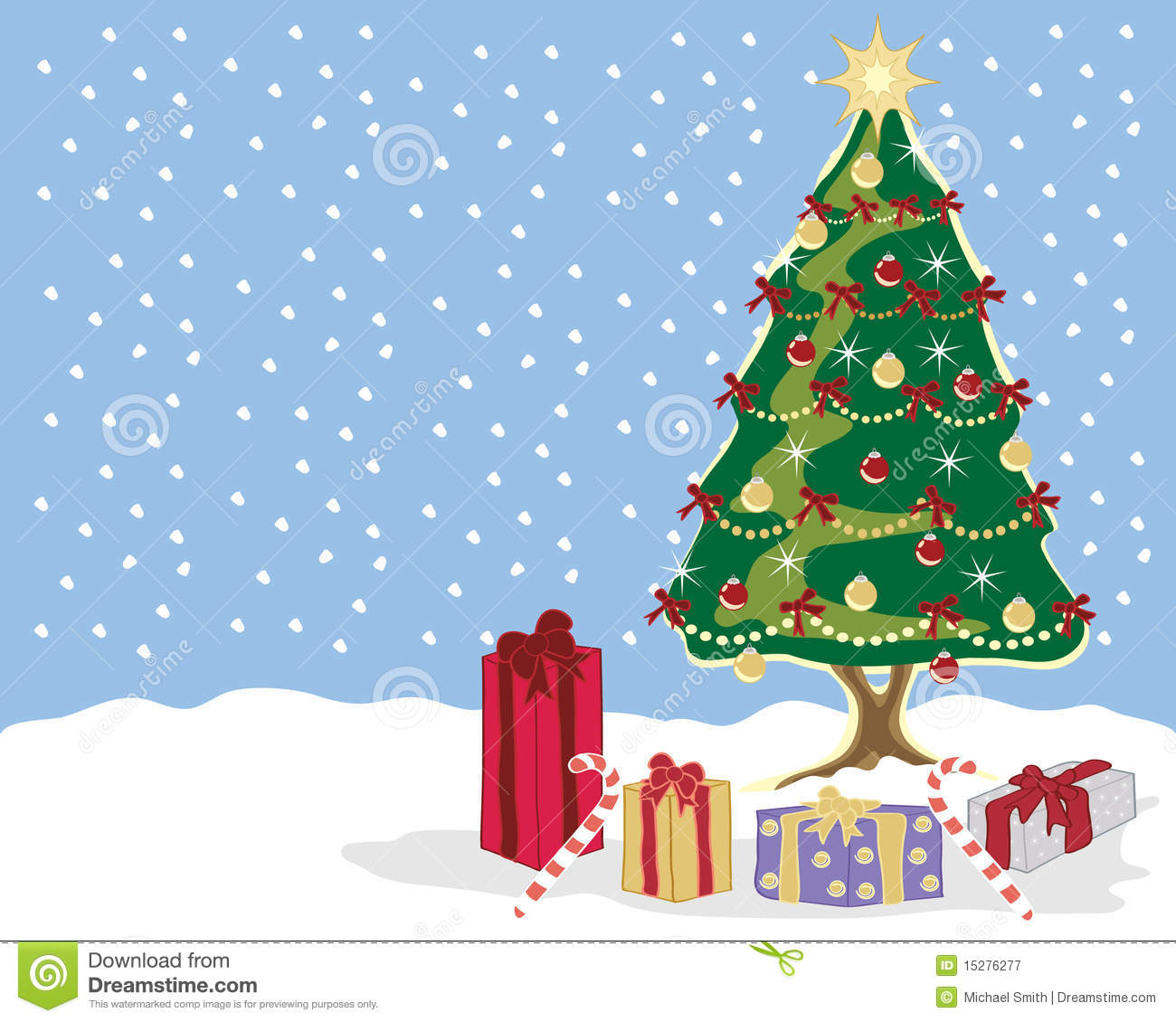 Christmas Scene Royalty Free Stock Photography - Image: 15276277