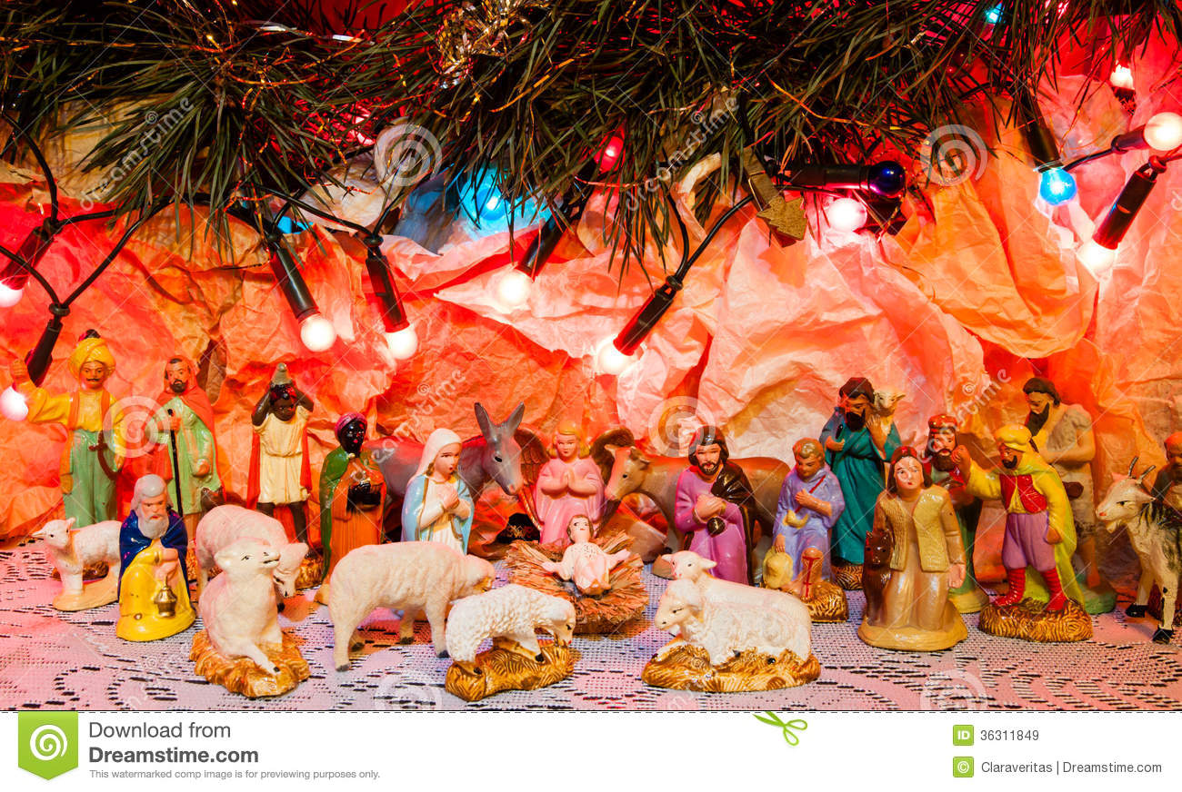 christmas scene bethlehem jesus born decoration religious miracle