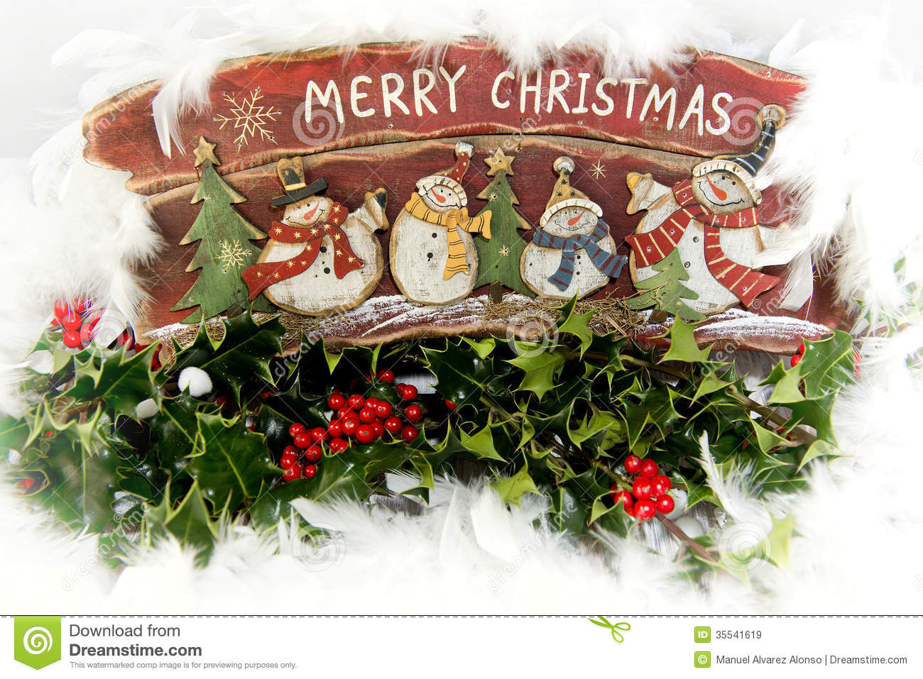 Christmas Scene Royalty Free Stock Images - Image: 35541619