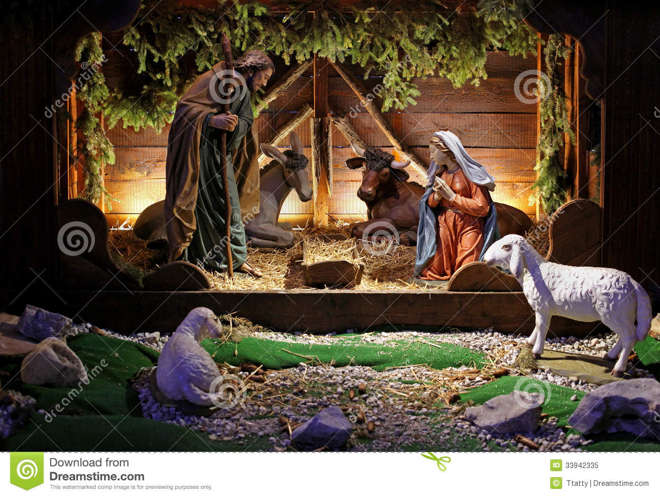 Christmas Scene Stock Image Image Of Holy Father Crib