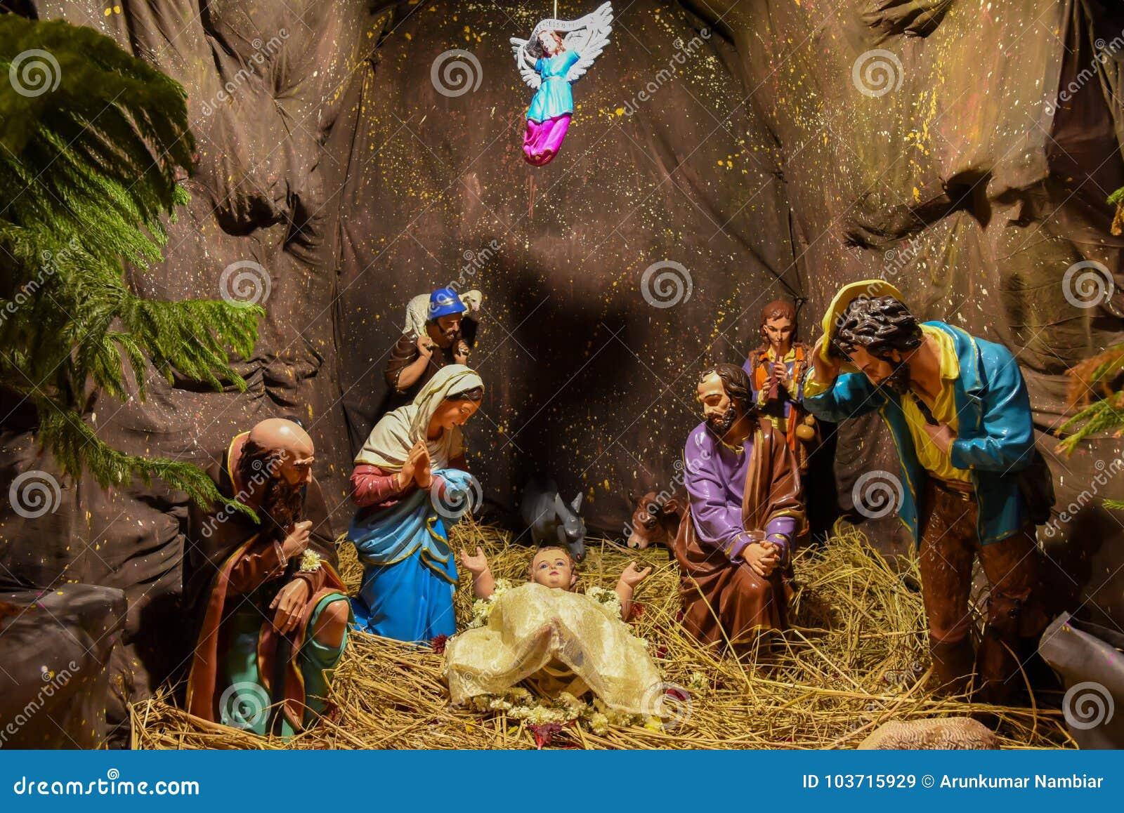 Jesus Christmas Pic.Christmas Jesus Birth Scene Stock Image Image Of December