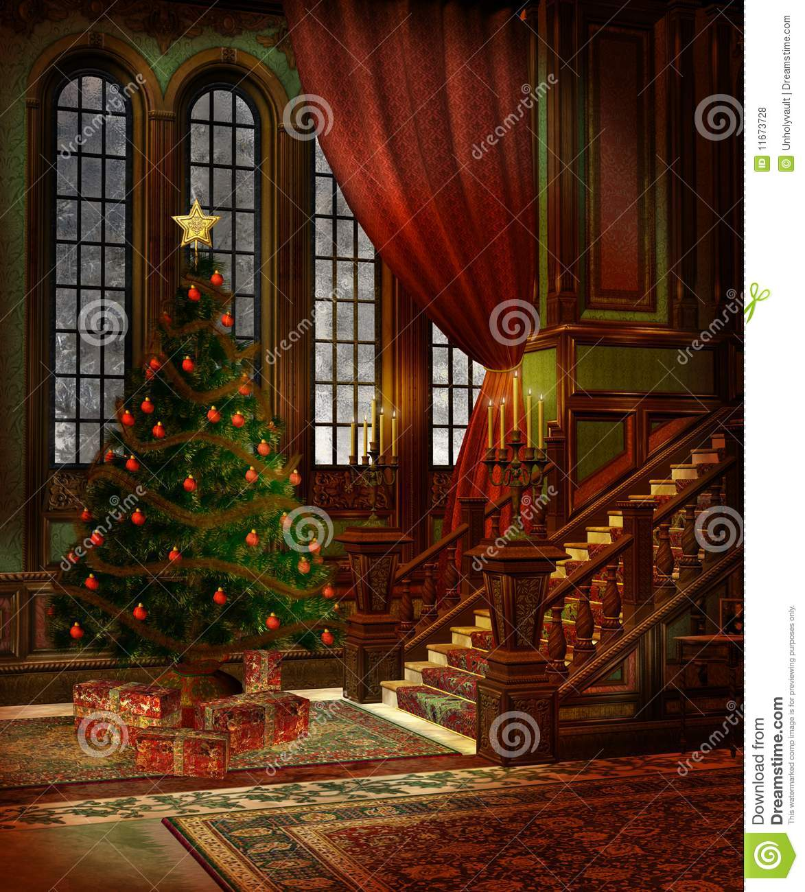 Christmas Scenery 3 Royalty Free Stock Photos Image