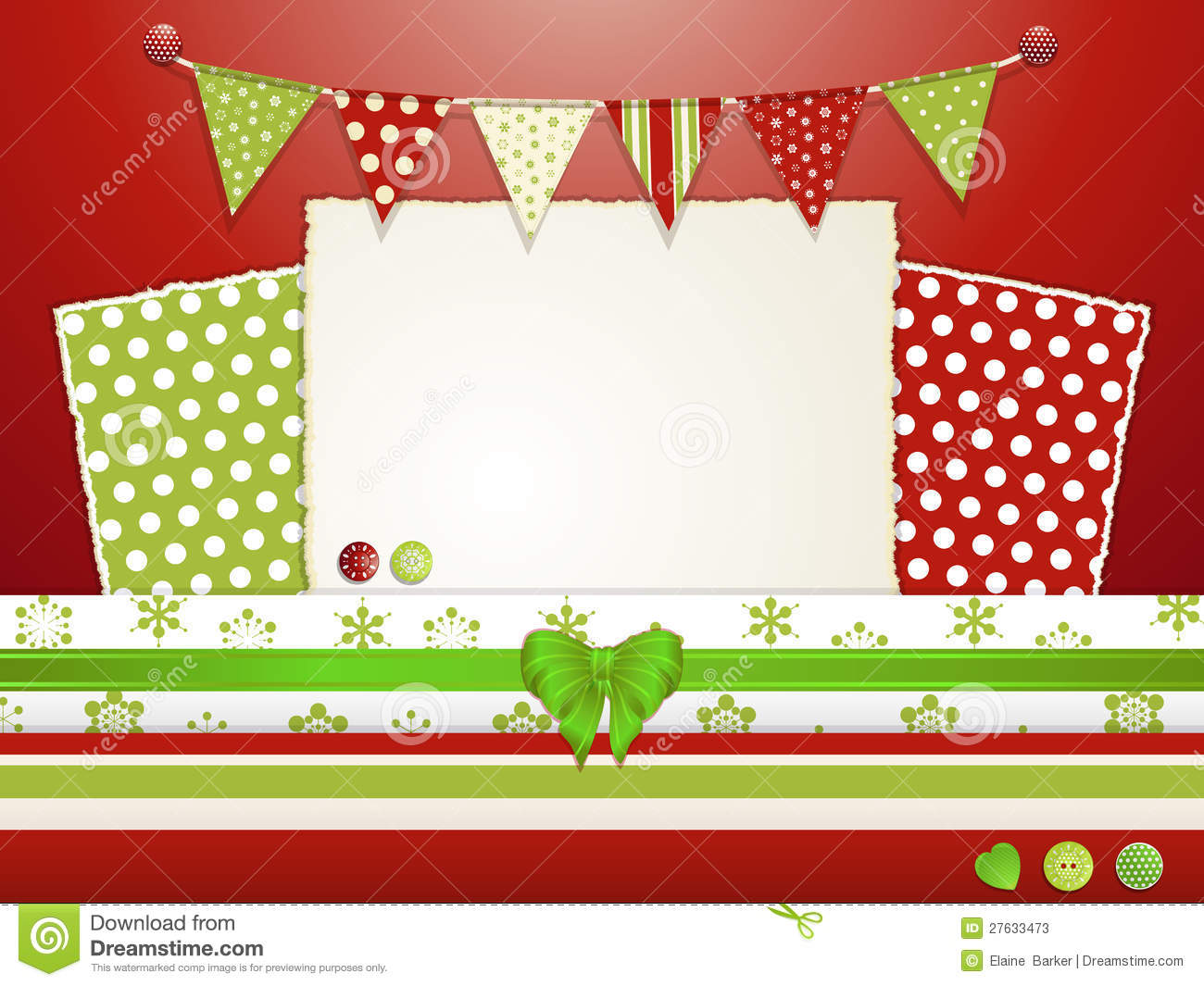 Christmas Scrapbooking Layout 2 Stock Vector - Image: 27633473