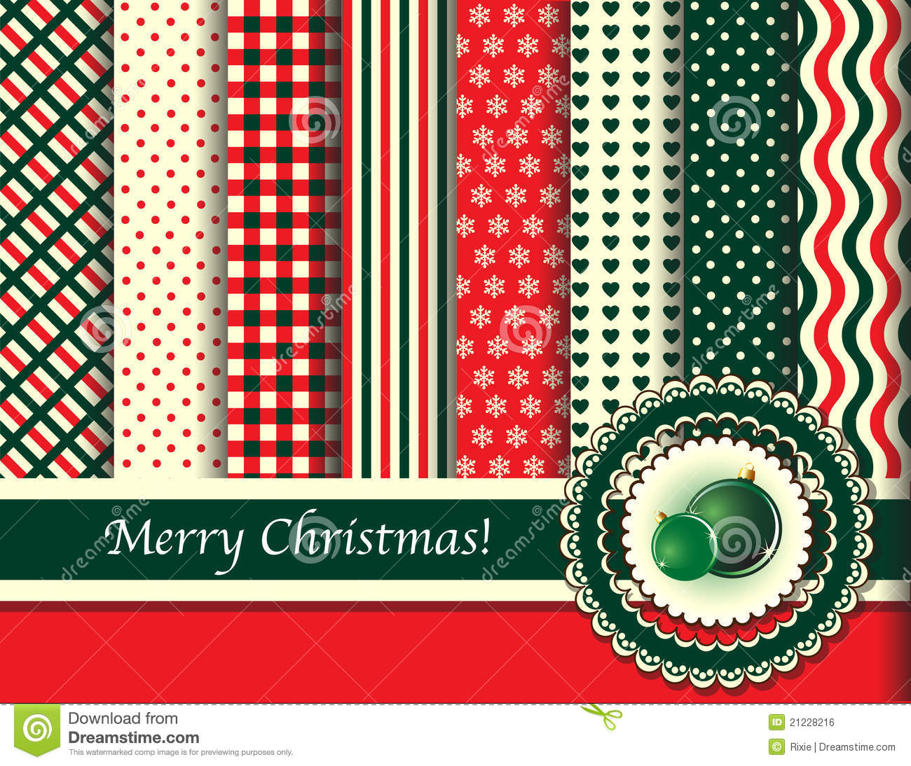 Christmas Scrapbooking Retro Tones Stock Vector Image