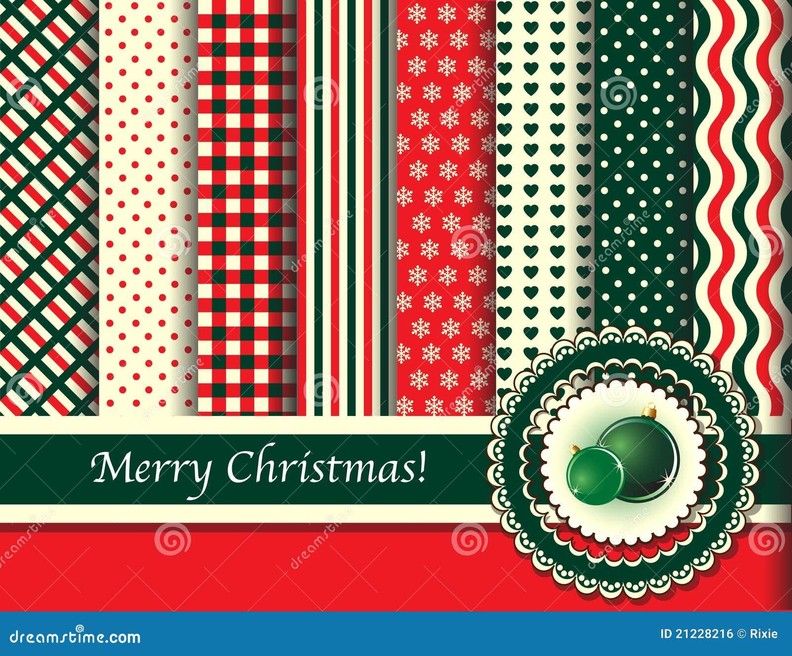 Christmas Scrapbooking Retro Tones Royalty Free Stock