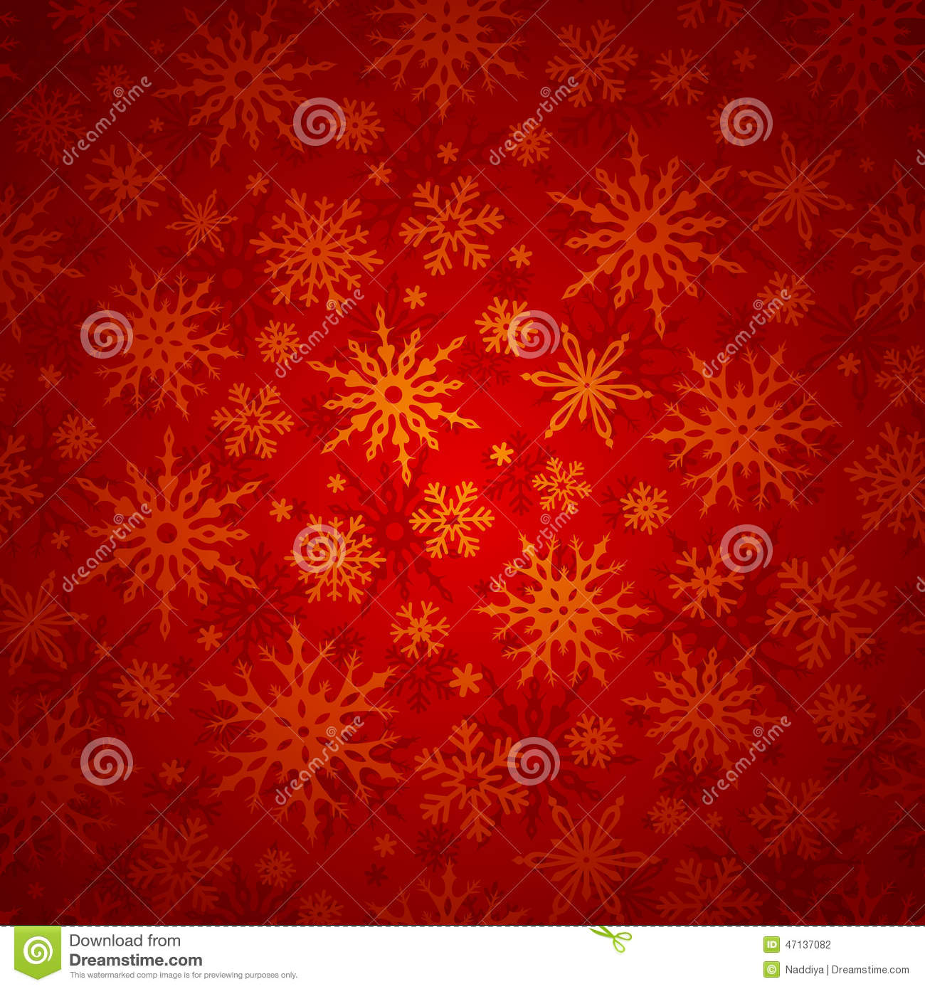 Christmas Seamless Background With Snowflakes. Vector ...