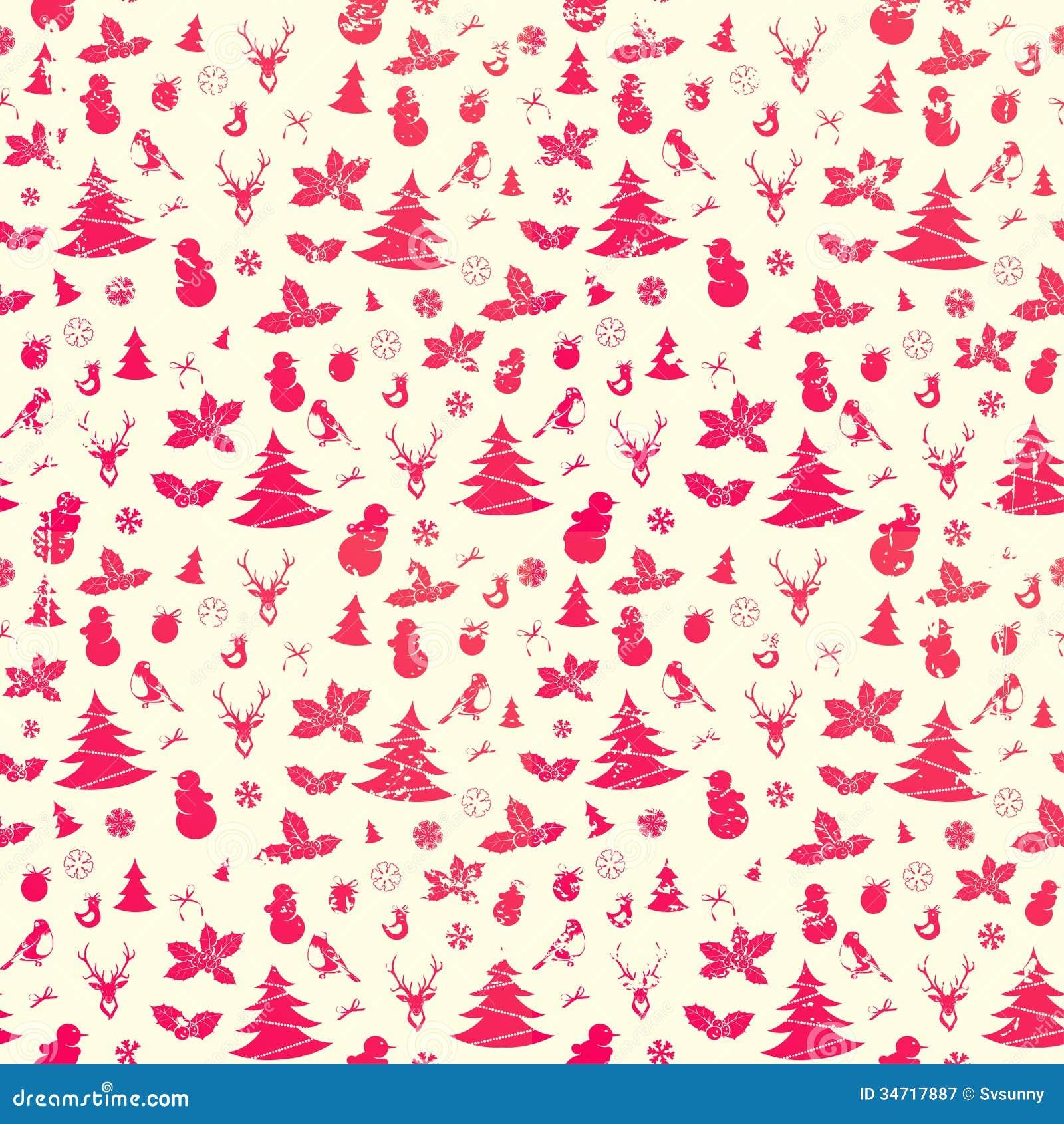 Christmas Seamless Background Stock Vector - Illustration