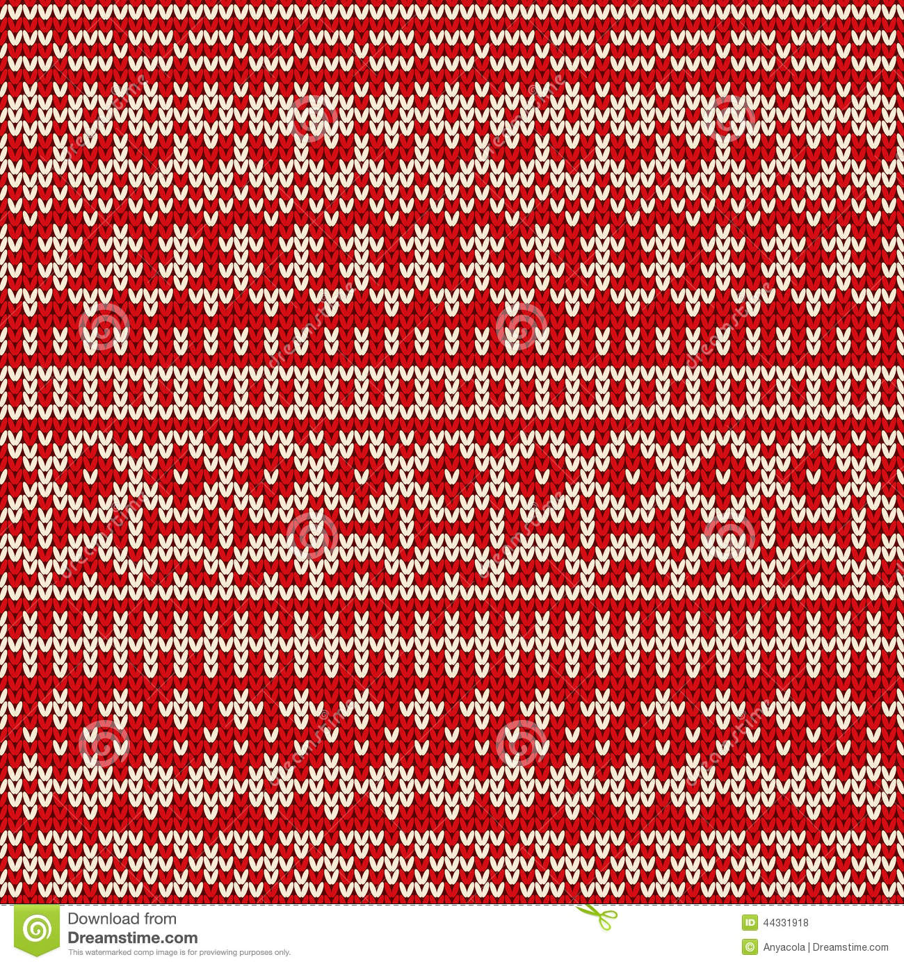 Fair Isle Patterns For Knitting : Christmas Seamless Knitted Pattern In Fair Isle Style Stock Vector - Image: 4...