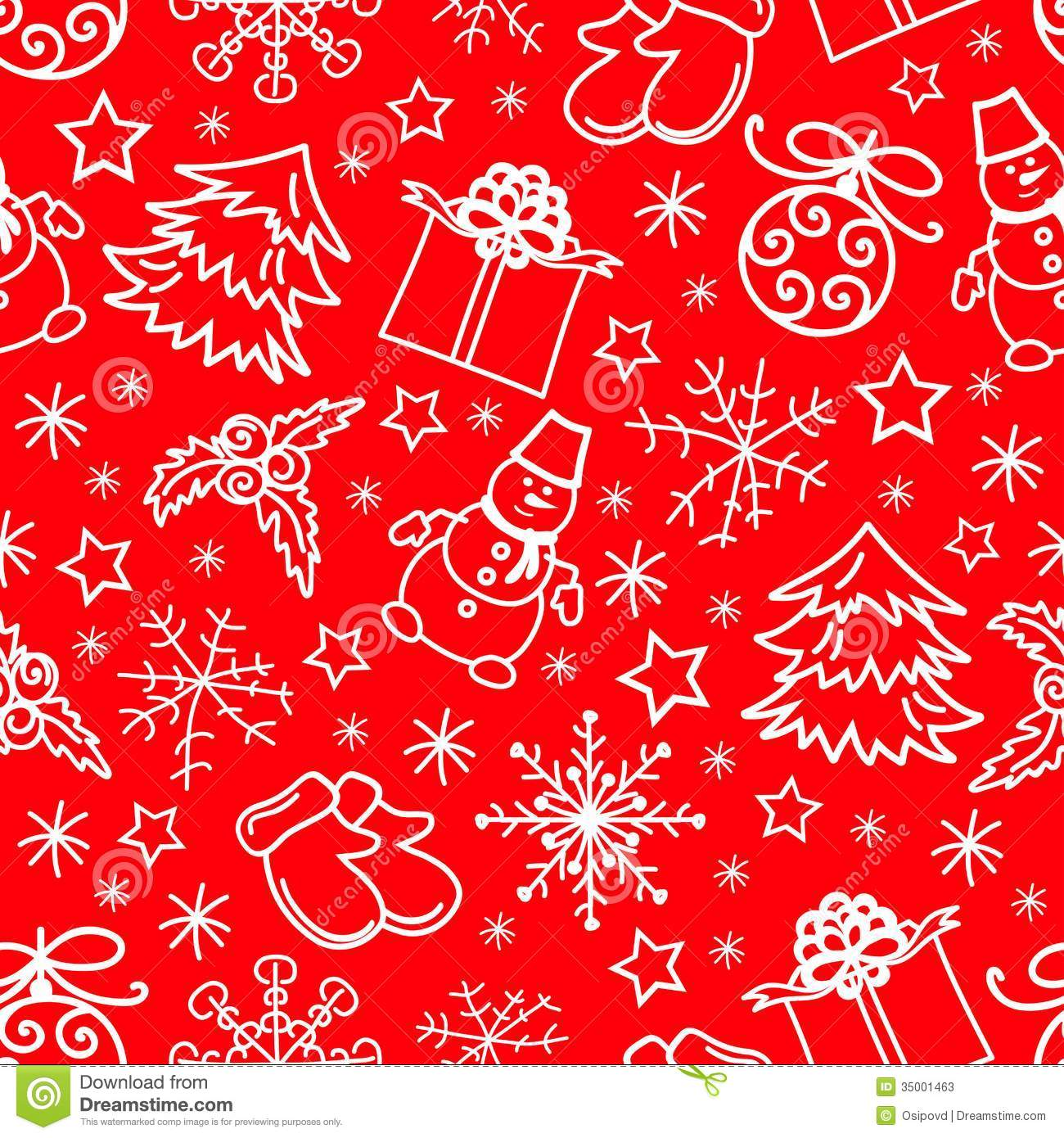 90s Christmas Background.Christmas Seamless Pattern Abstract Red Background Stock Vector