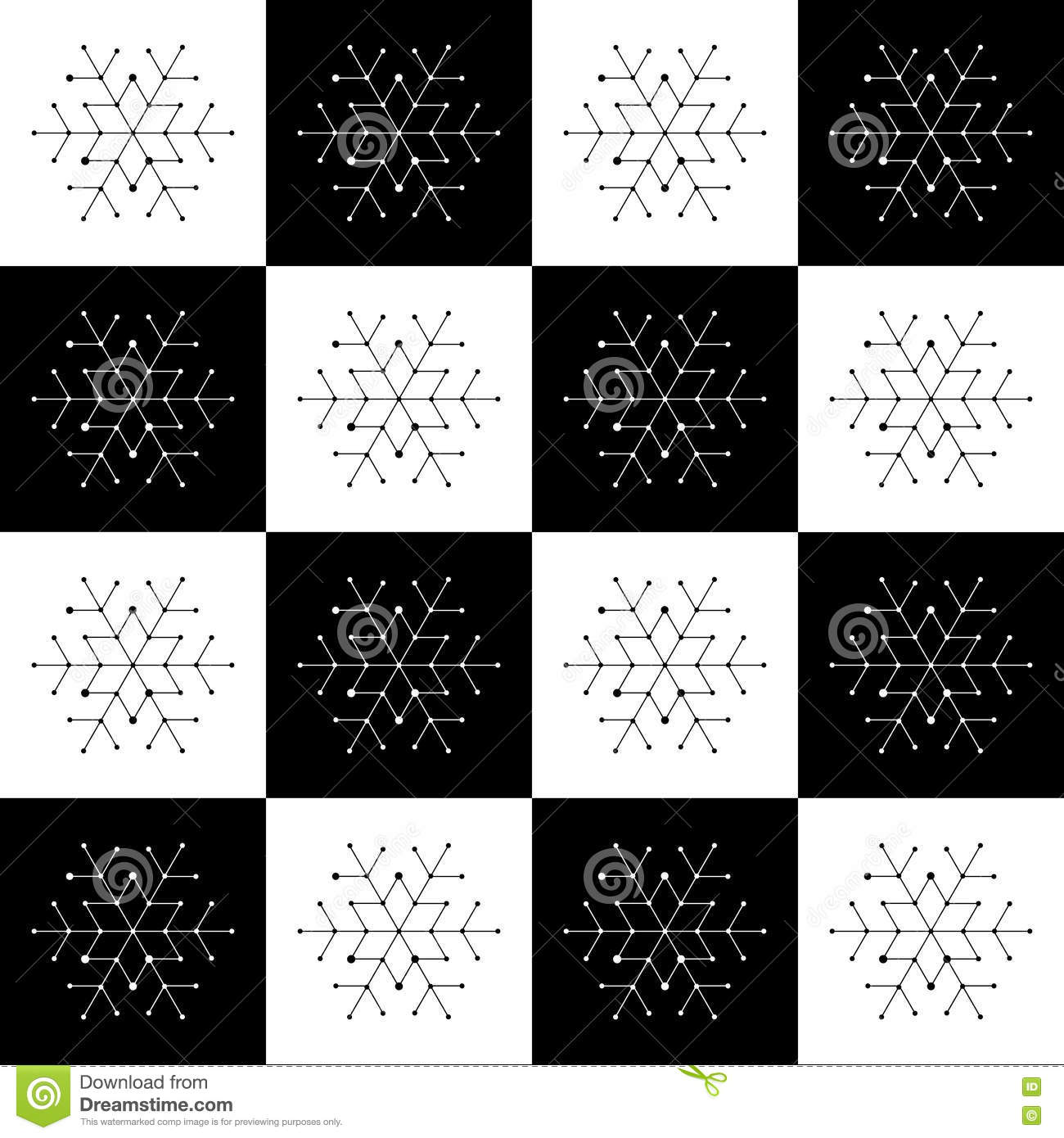 christmas seamless pattern on chessboard background new year wallpaper winter black and white wrapping