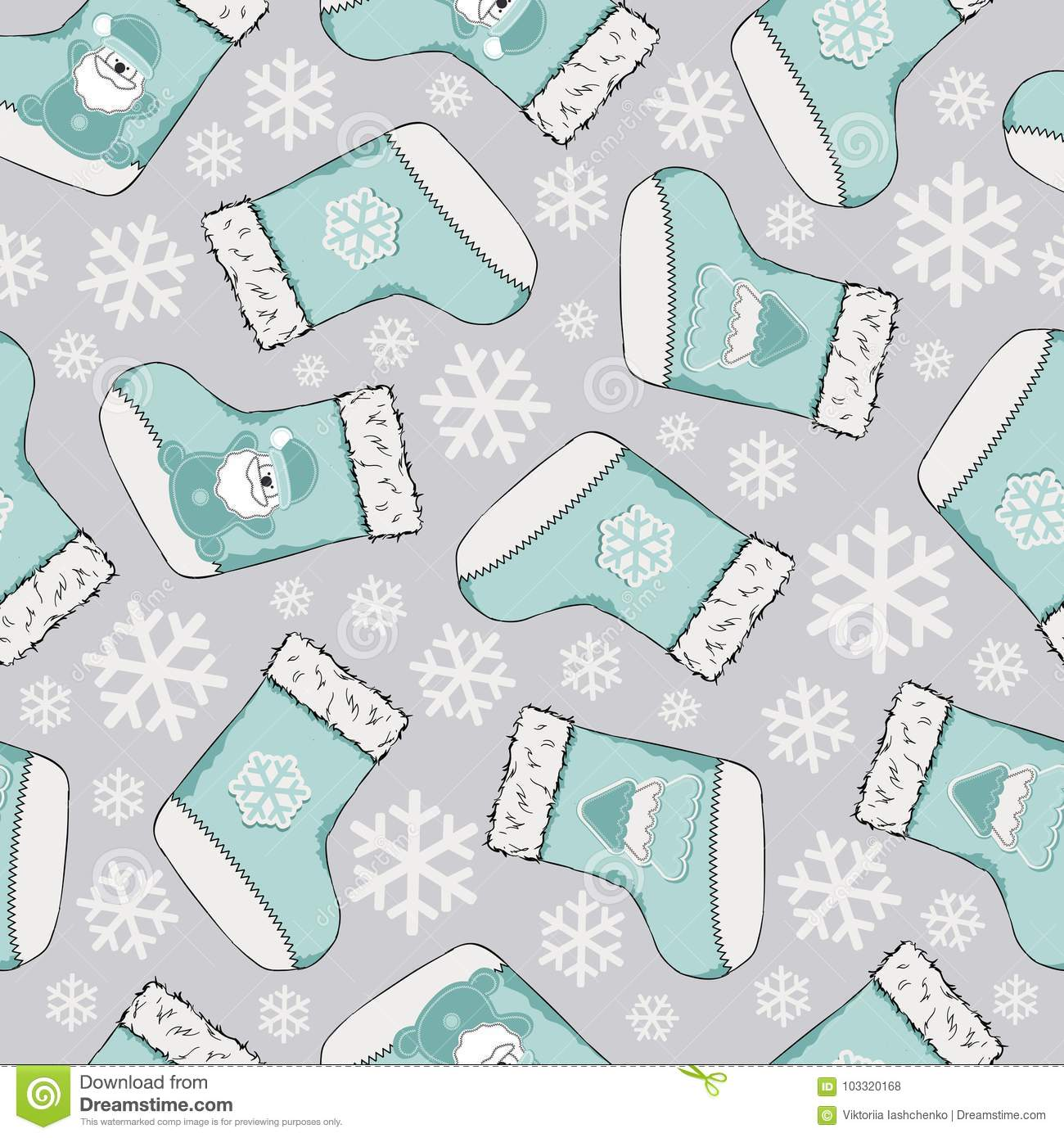 Christmas seamless pattern. Merry Christmas design. It can be used for wallpaper, web page and others. Vector illustration.