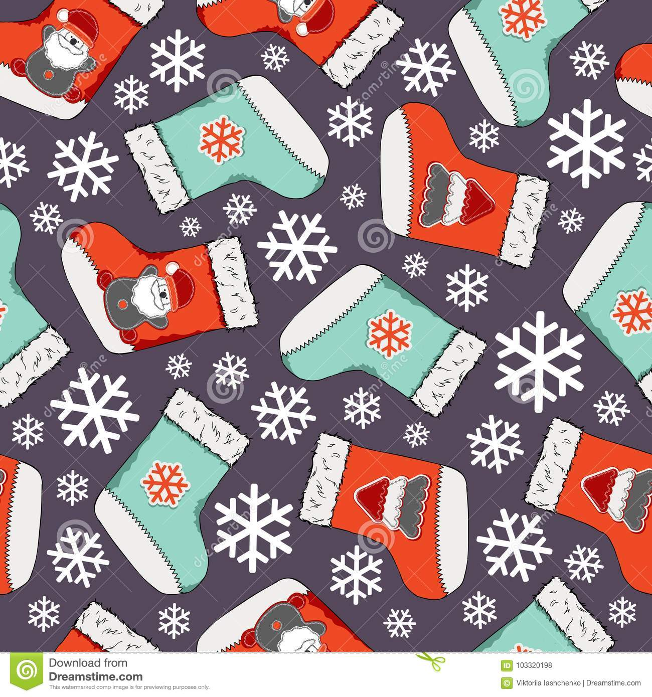 Christmas seamless pattern. Merry Christmas design. It can be used for wallpaper, web page and others. Vector illustration