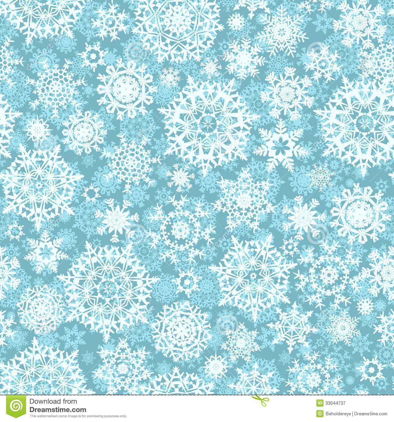Christmas seamless pattern snowflake background. EPS 10 vector file ...