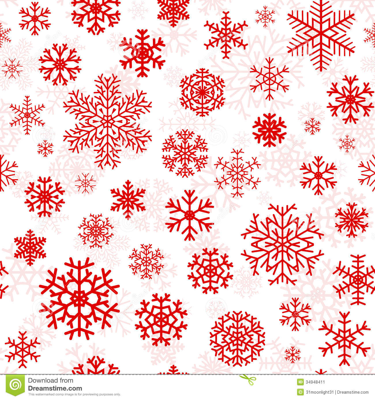christmas seamless pattern from snowflakes stock vector