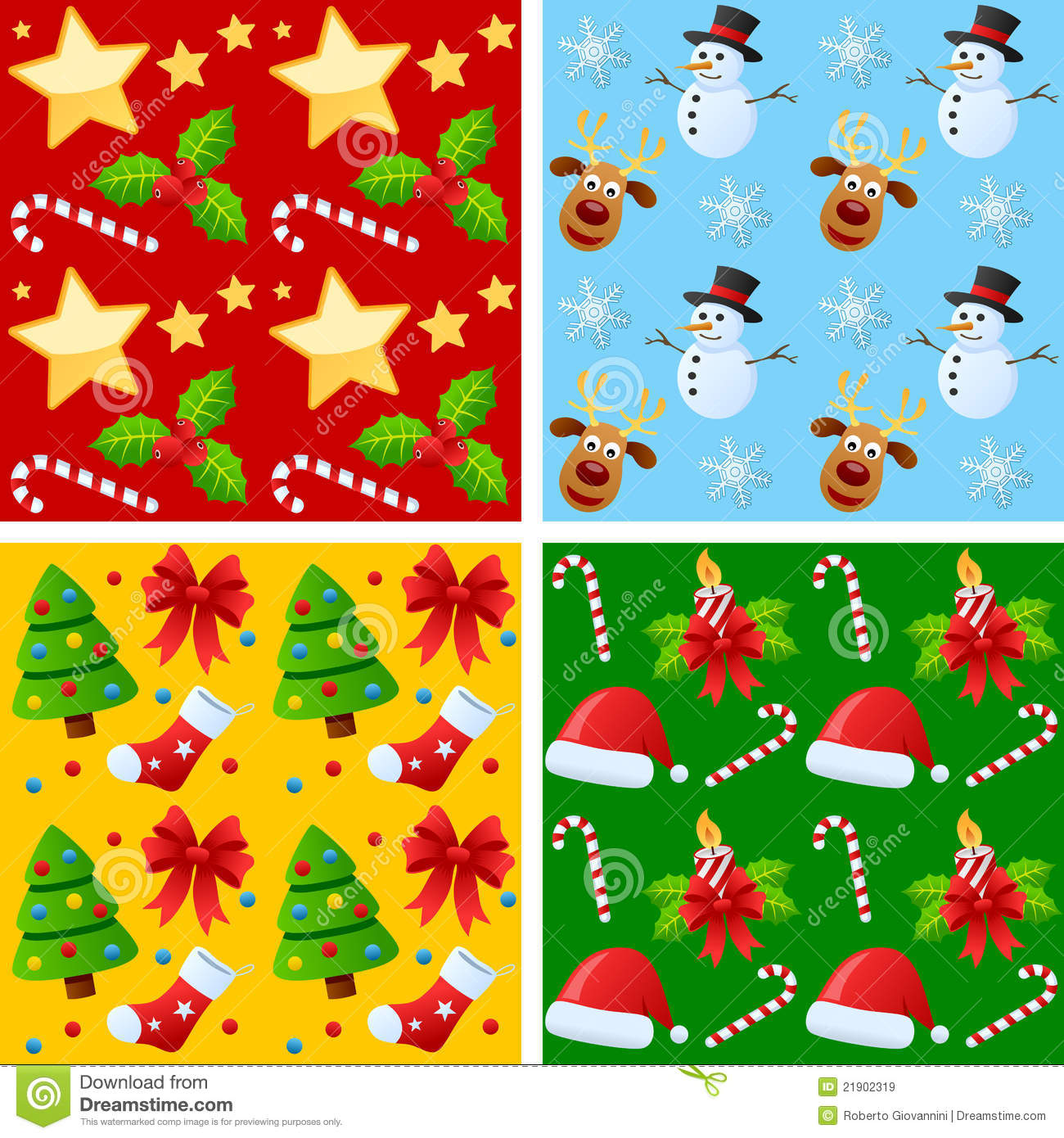 Download Christmas Seamless Patterns Stock Vector - Illustration of colorful, colourful: 21902319