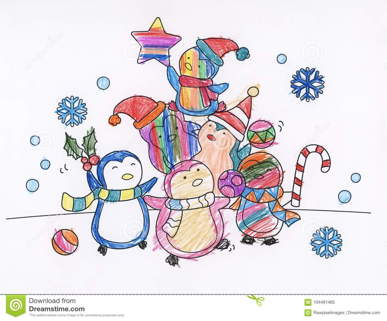 Christmas Season Creative Coloring Book Stock Illustration ...