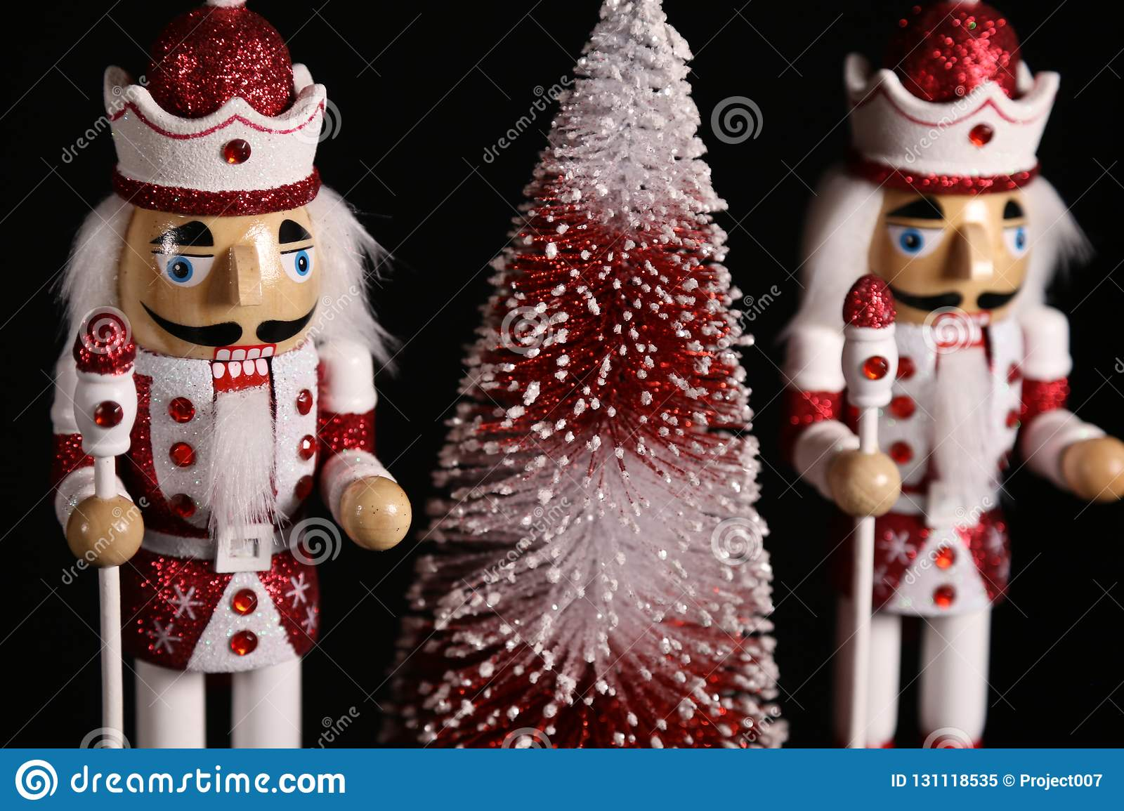 christmas season manufacturing christmas red decorations christmas wallpaper billboard nutcracker toy soldiers 131118535