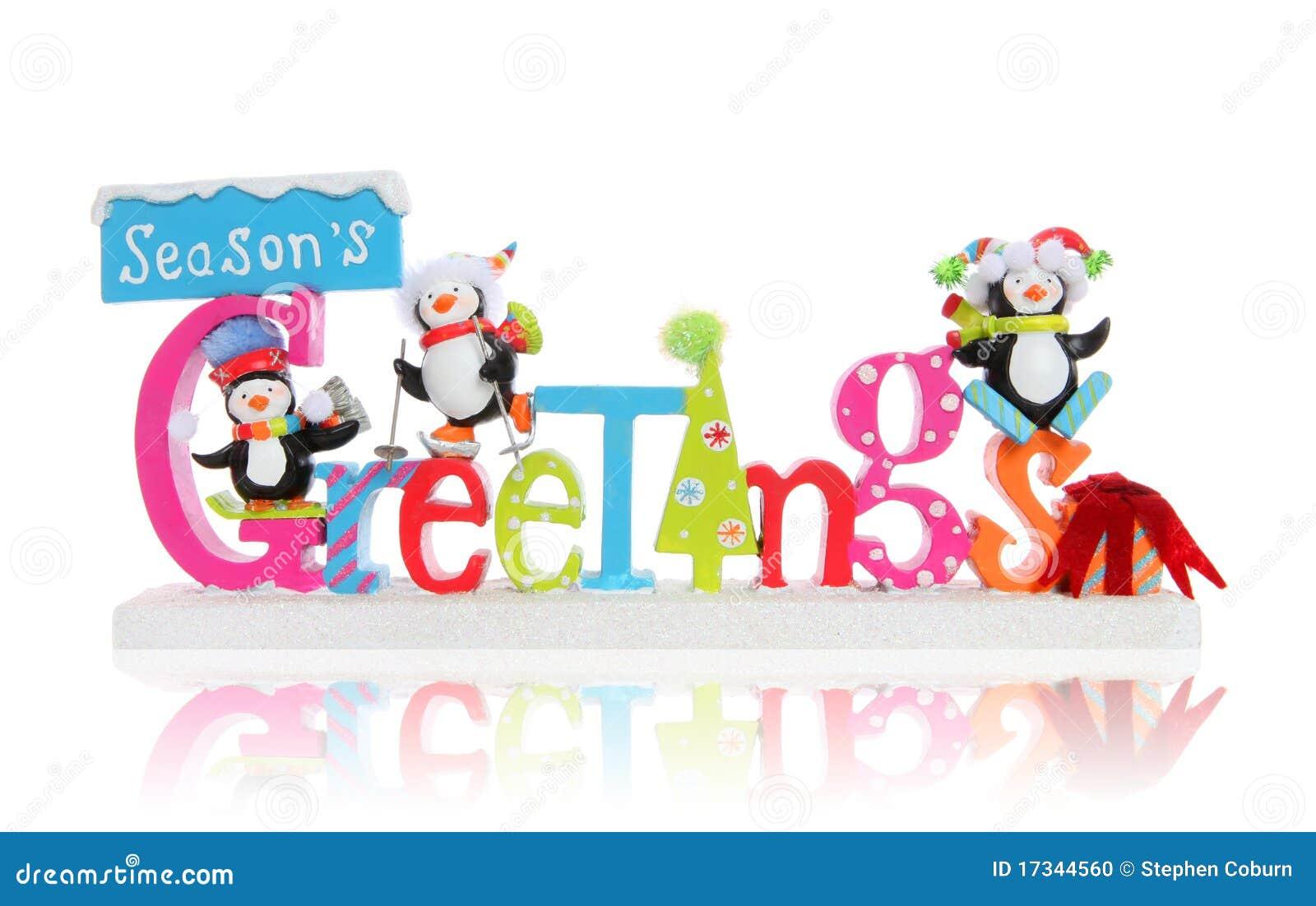 Christmas Seasons Greeting Sign Stock Photo Image Of Animal