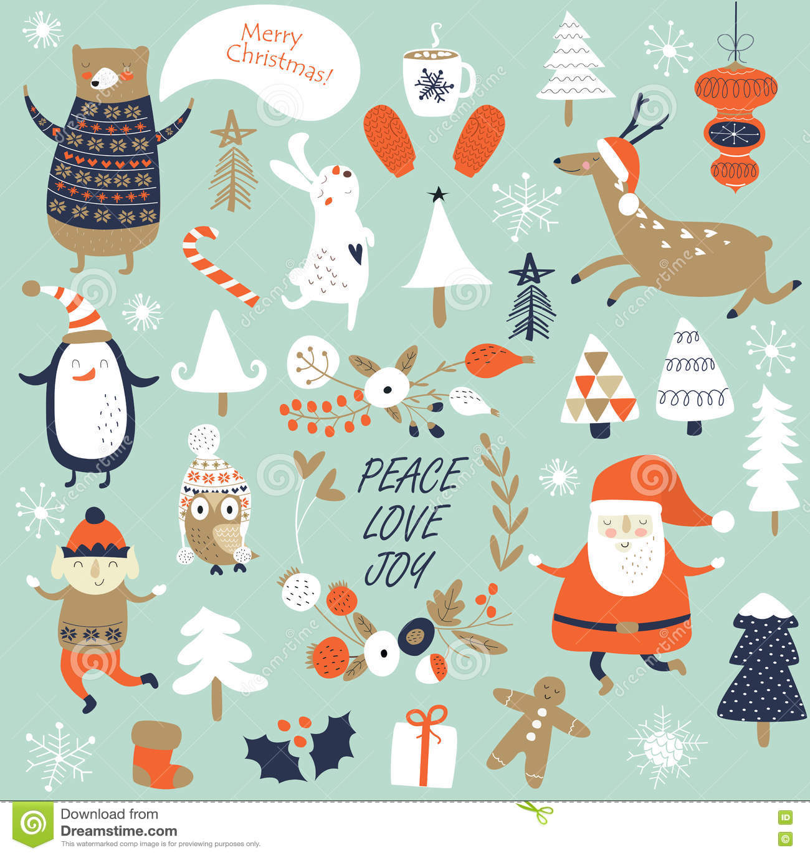 b4b46f934fe4af Christmas set stock illustration. Illustration of knitted - 76116856