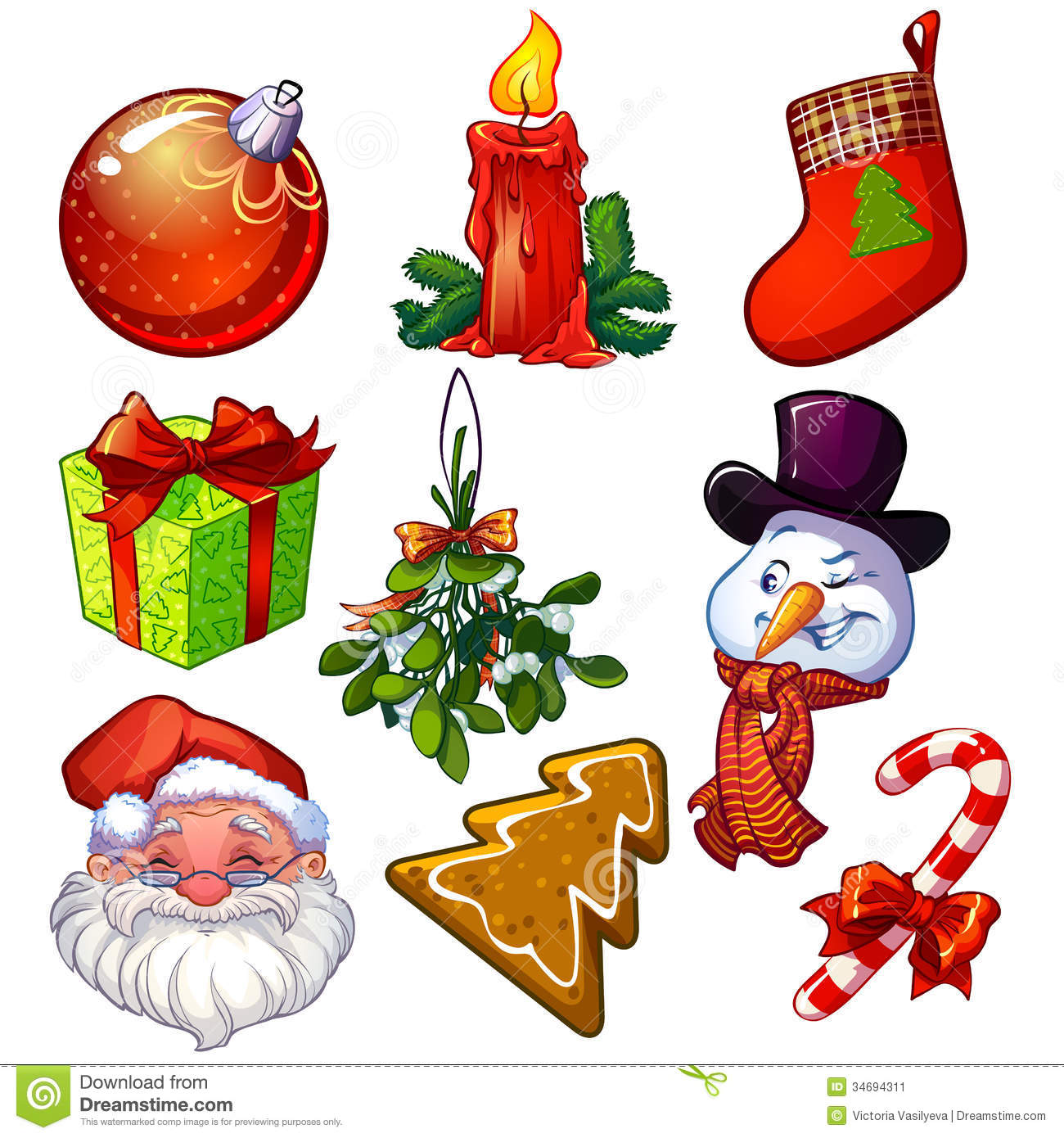 Christmas Set.Christmas Set Stock Vector Illustration Of Isolated 34694311