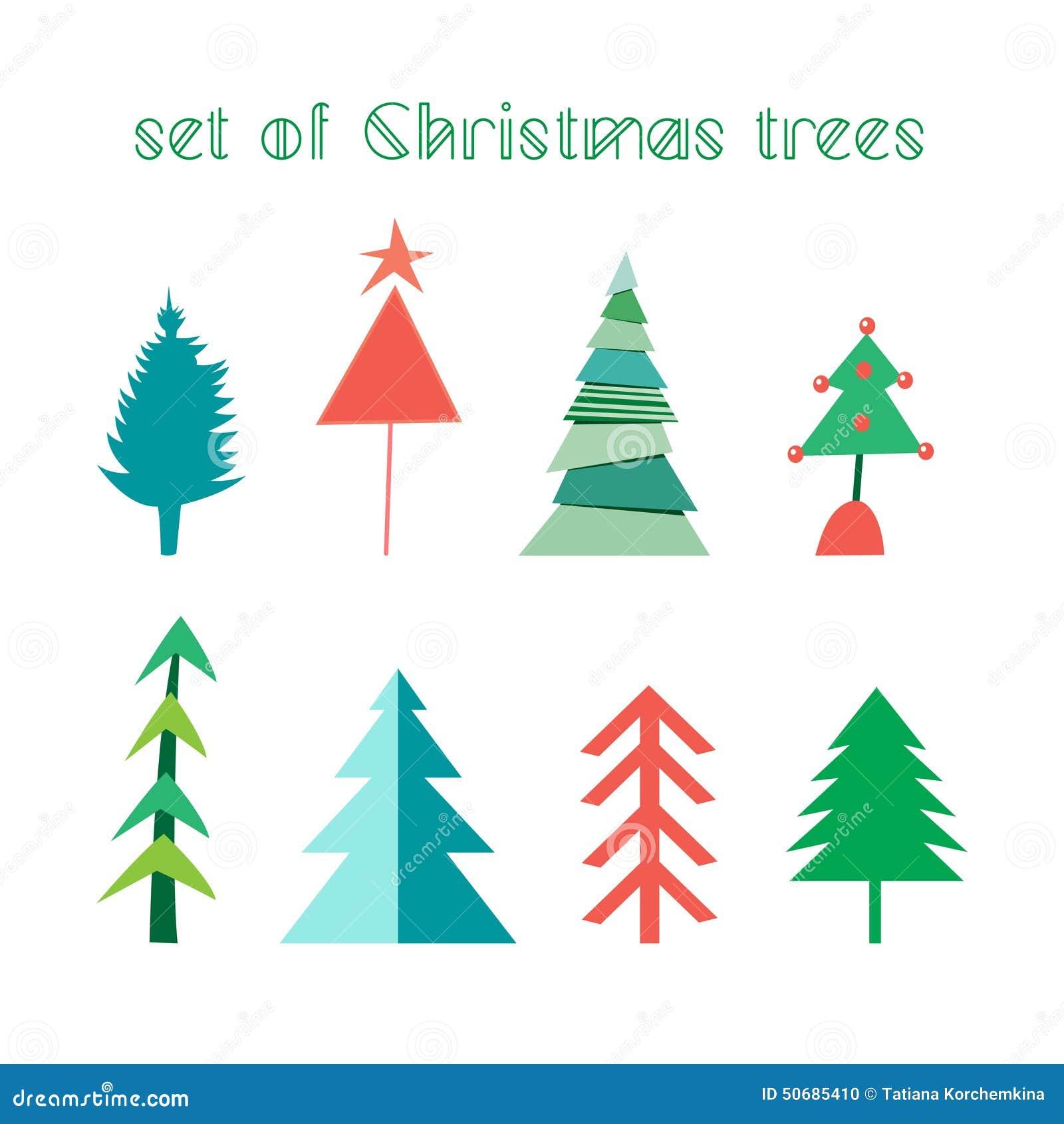 Download Christmas set trees 向量例证. 插画 包括有 颜色, 快乐, 五颜六色, 圈子, brander - 50685410