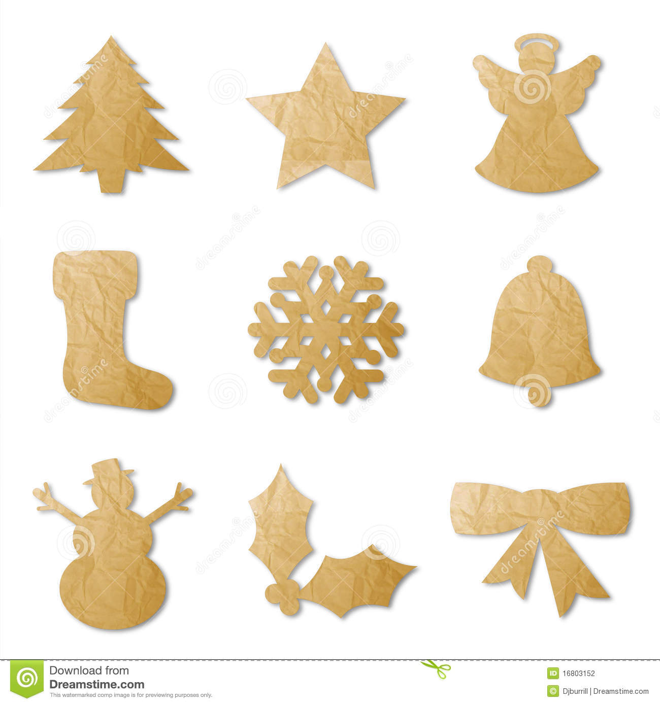 Christmas Shapes Stock Photography Image 16803152