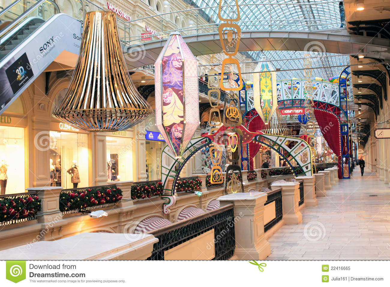 Christmas Shop Decoration Editorial Image Image 22416665