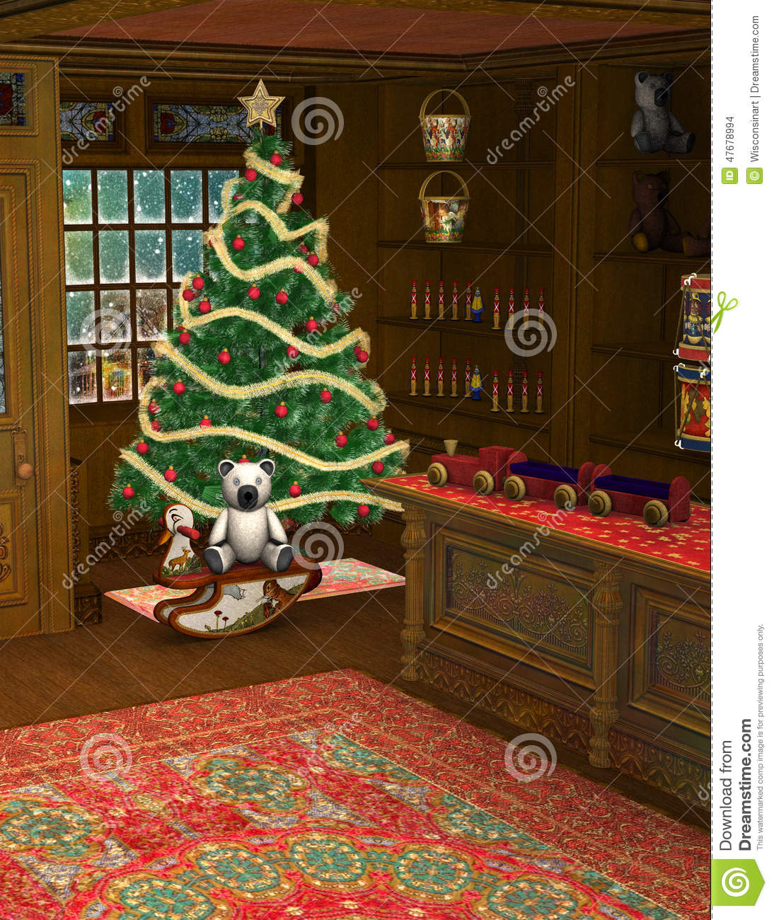 Christmas Toy Store : Christmas shop toy store illustration stock