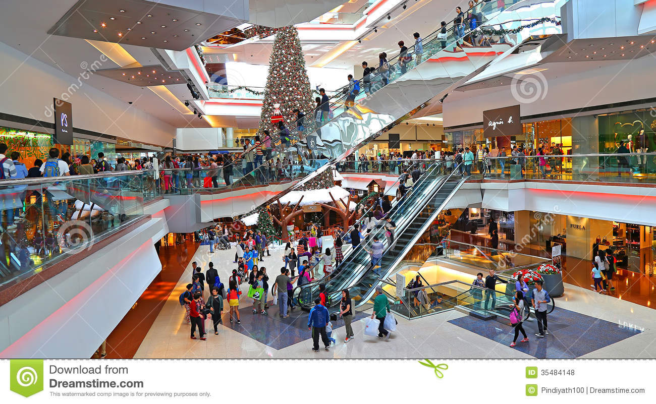 Home Decoration For Diwali Christmas Shoppers At Shopping Mall Editorial Stock Photo