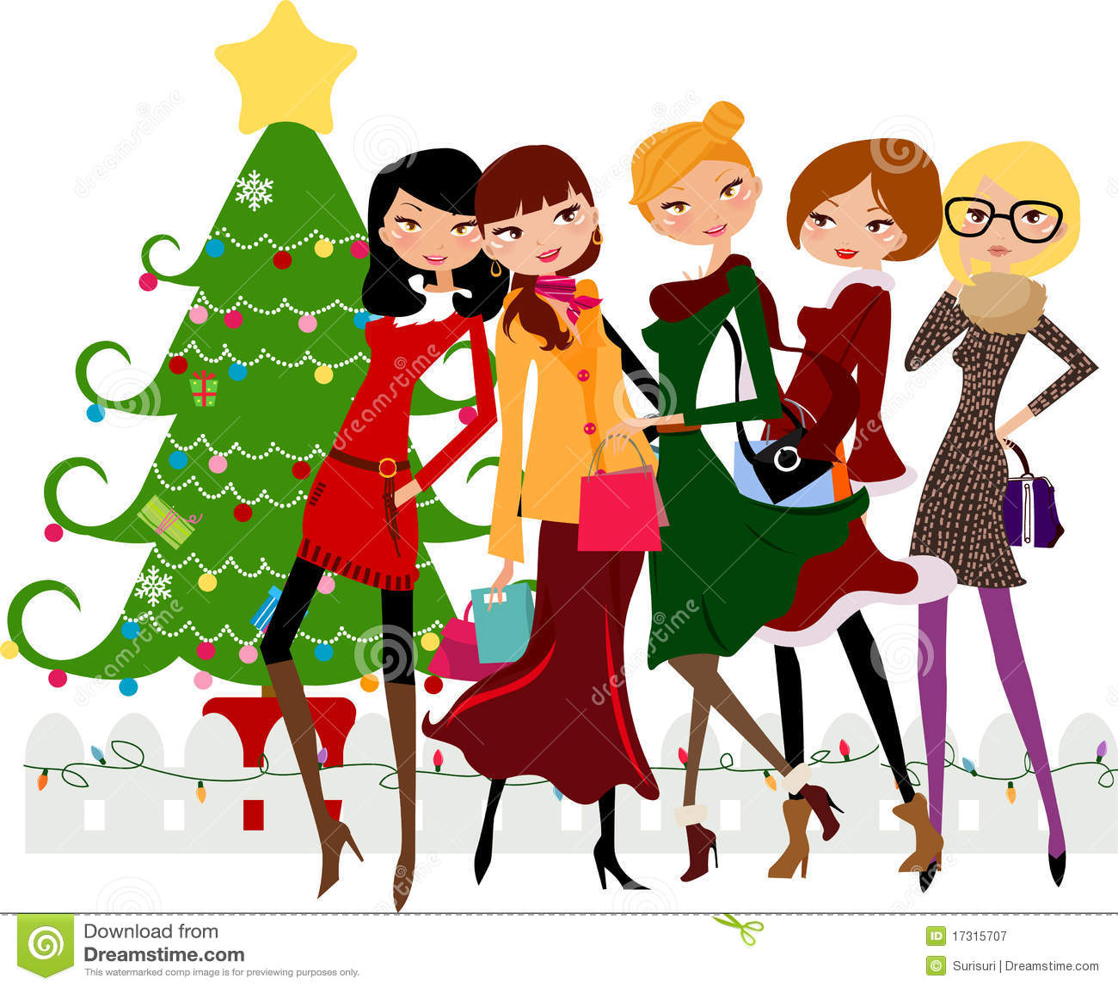 Christmas Shopping Royalty Free Stock Photography - Image ...