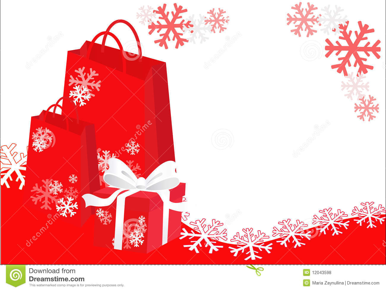 Christmas Shopping Background Stock Vector Illustration Of Year