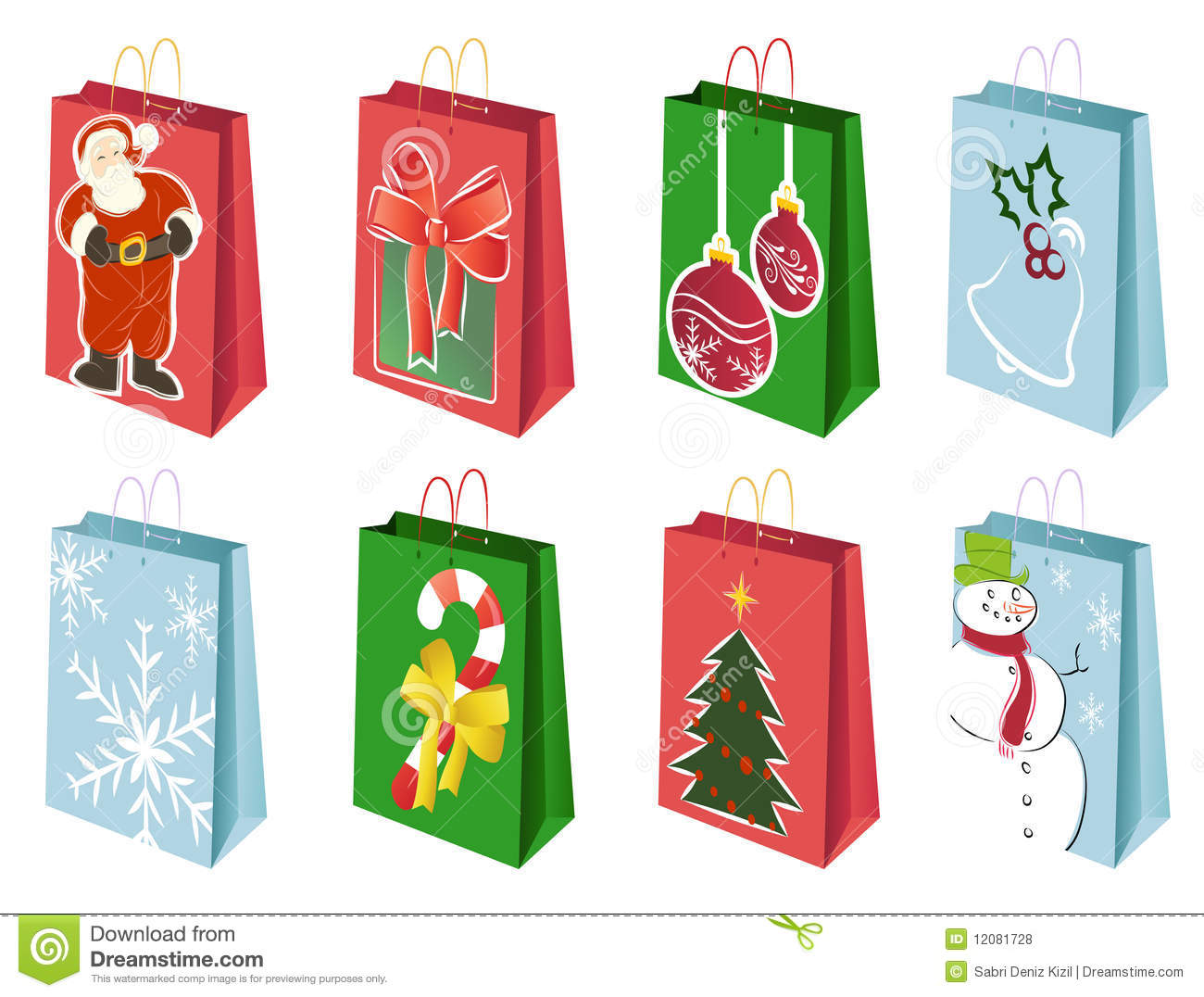 Christmas Shopping Bags Royalty Free Stock Photos - Image: 12081728