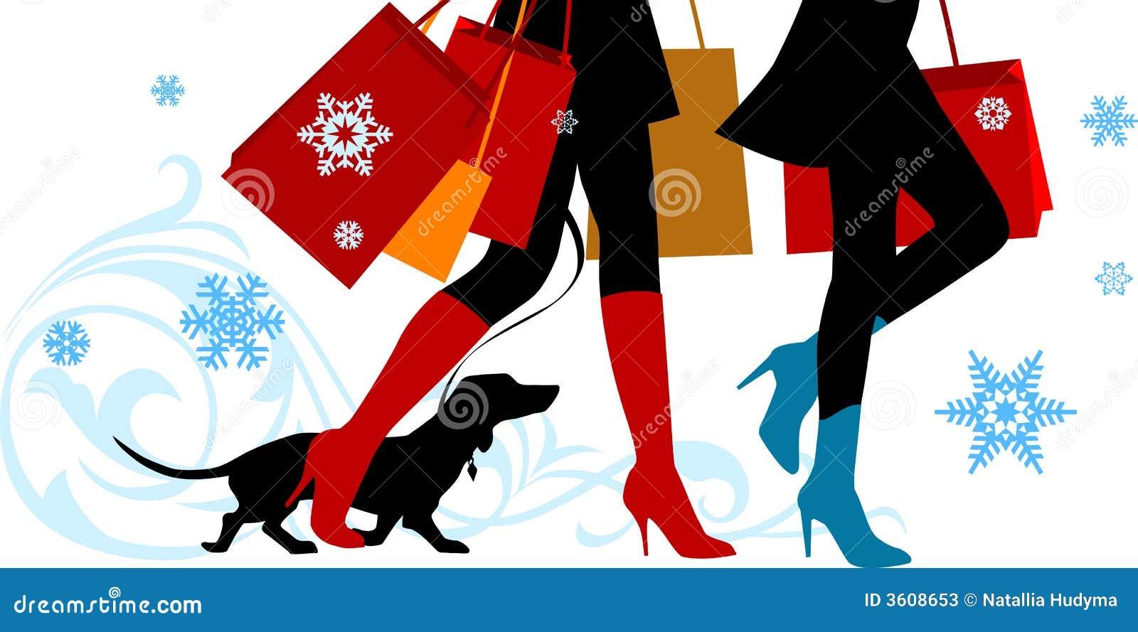 Christmas Shopping Legs