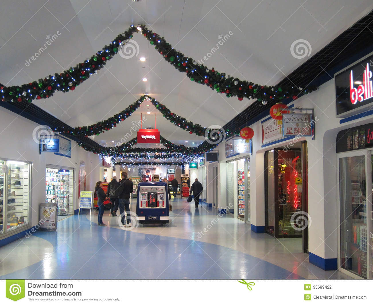 Christmas Shopping Mall Editorial Photography Image
