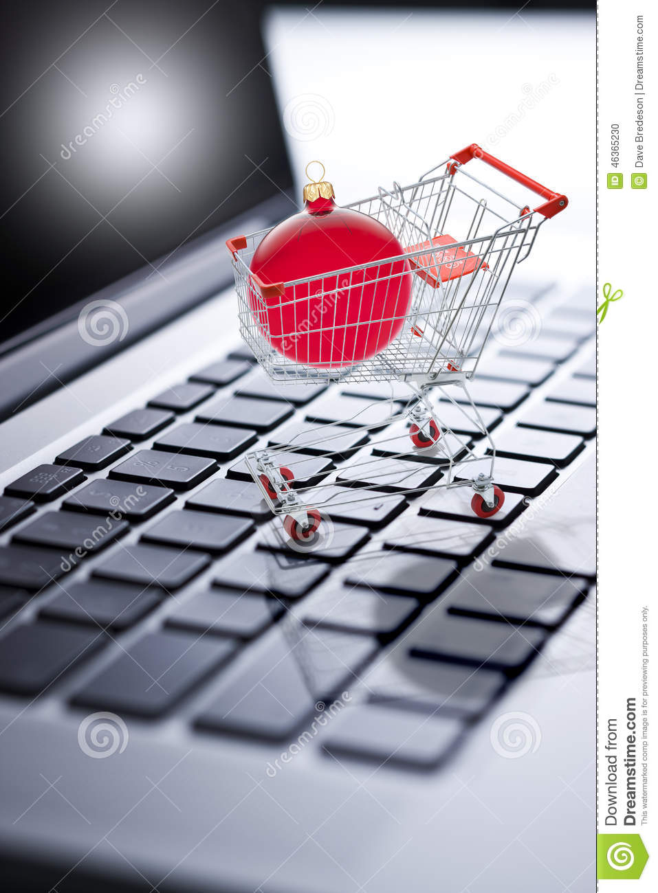 Christmas Shopping Online Computer