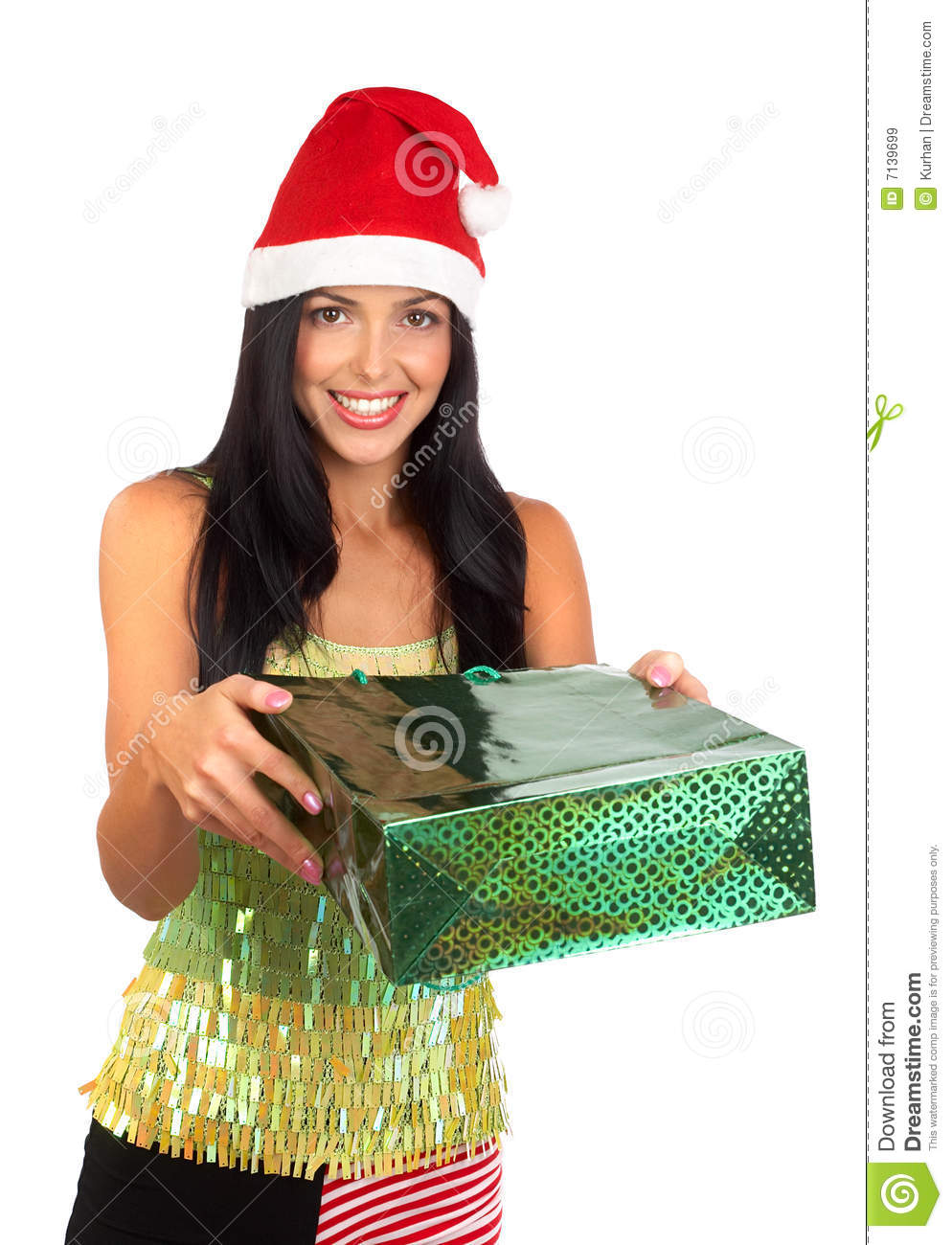 Christmas Shopping Woman Royalty Free Stock Images Image