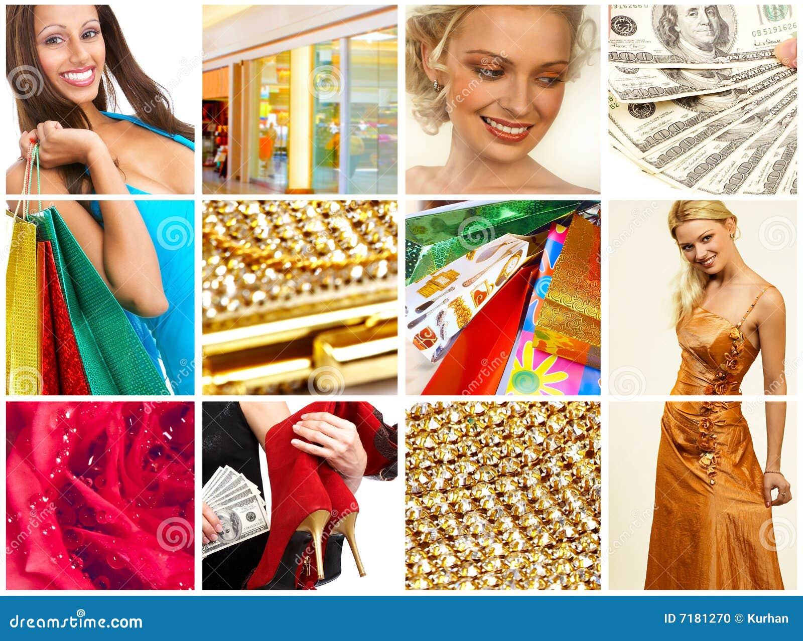 Christmas Shopping Woman Stock Photo Image 7181270