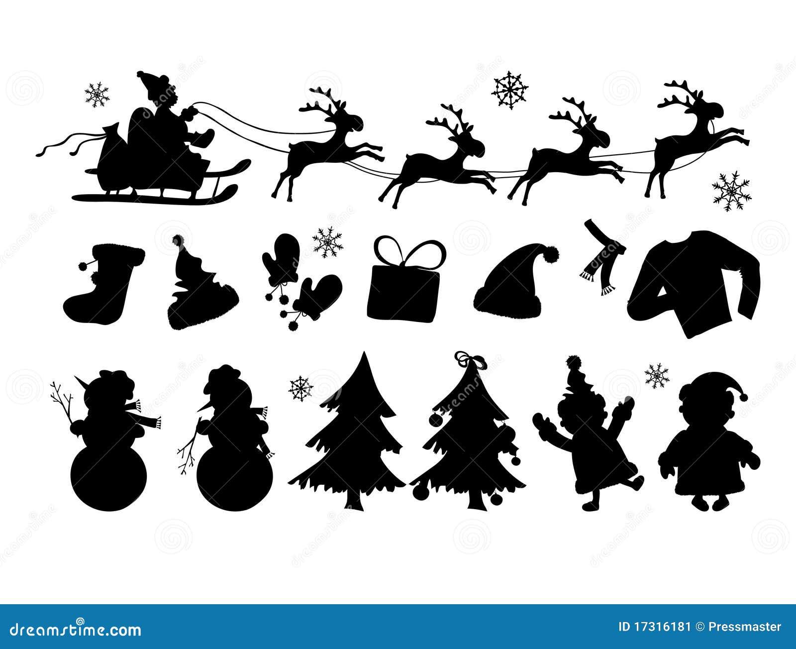 Christmas Silhouettes Stock Illustration Illustration Of