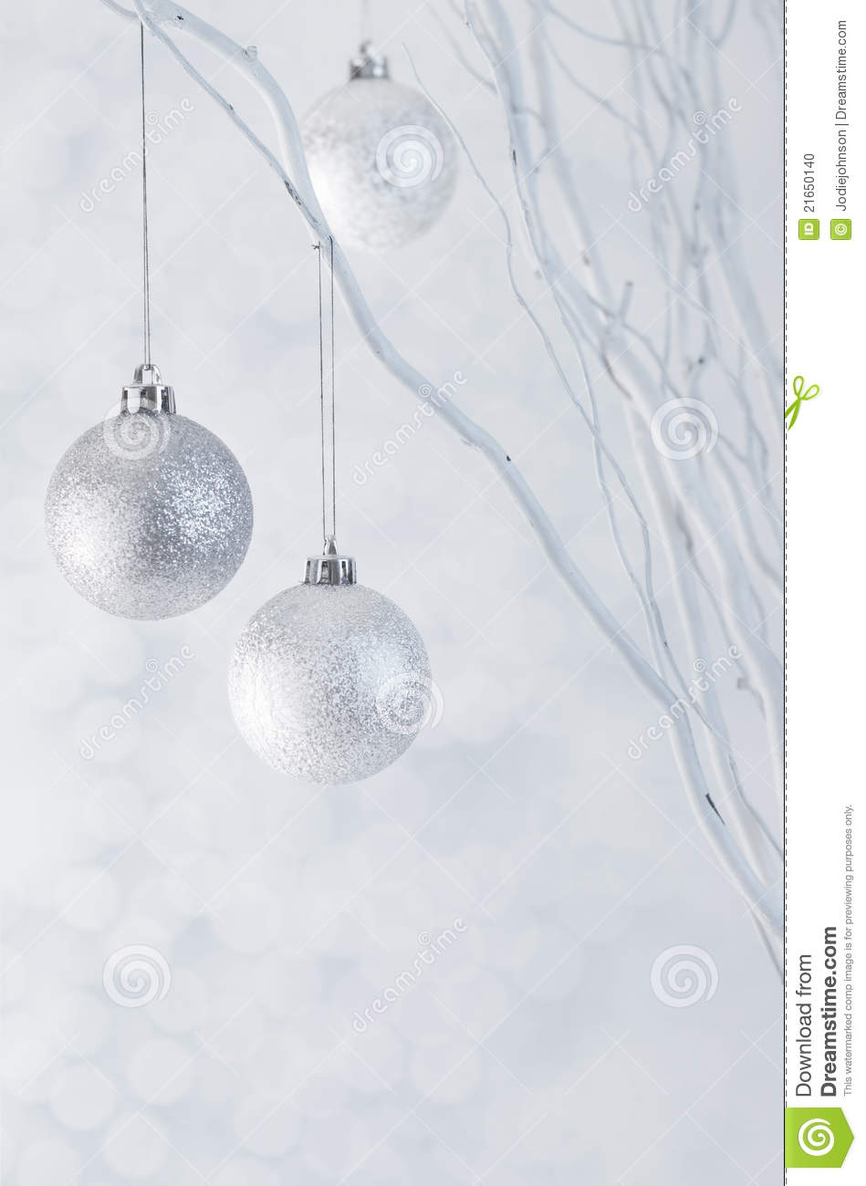 Christmas Tree White And Silver