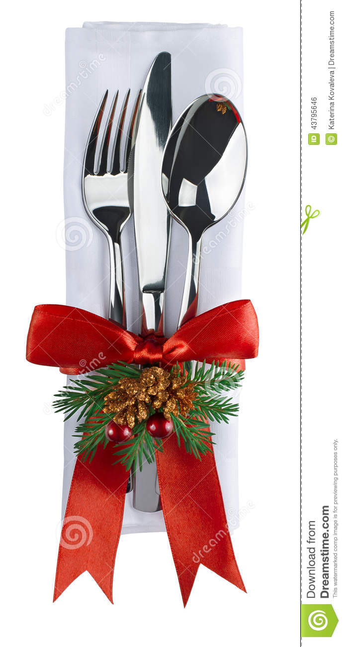 christmas silverware and napkin isolated on white plate knife and fork clipart free knife and fork clipart